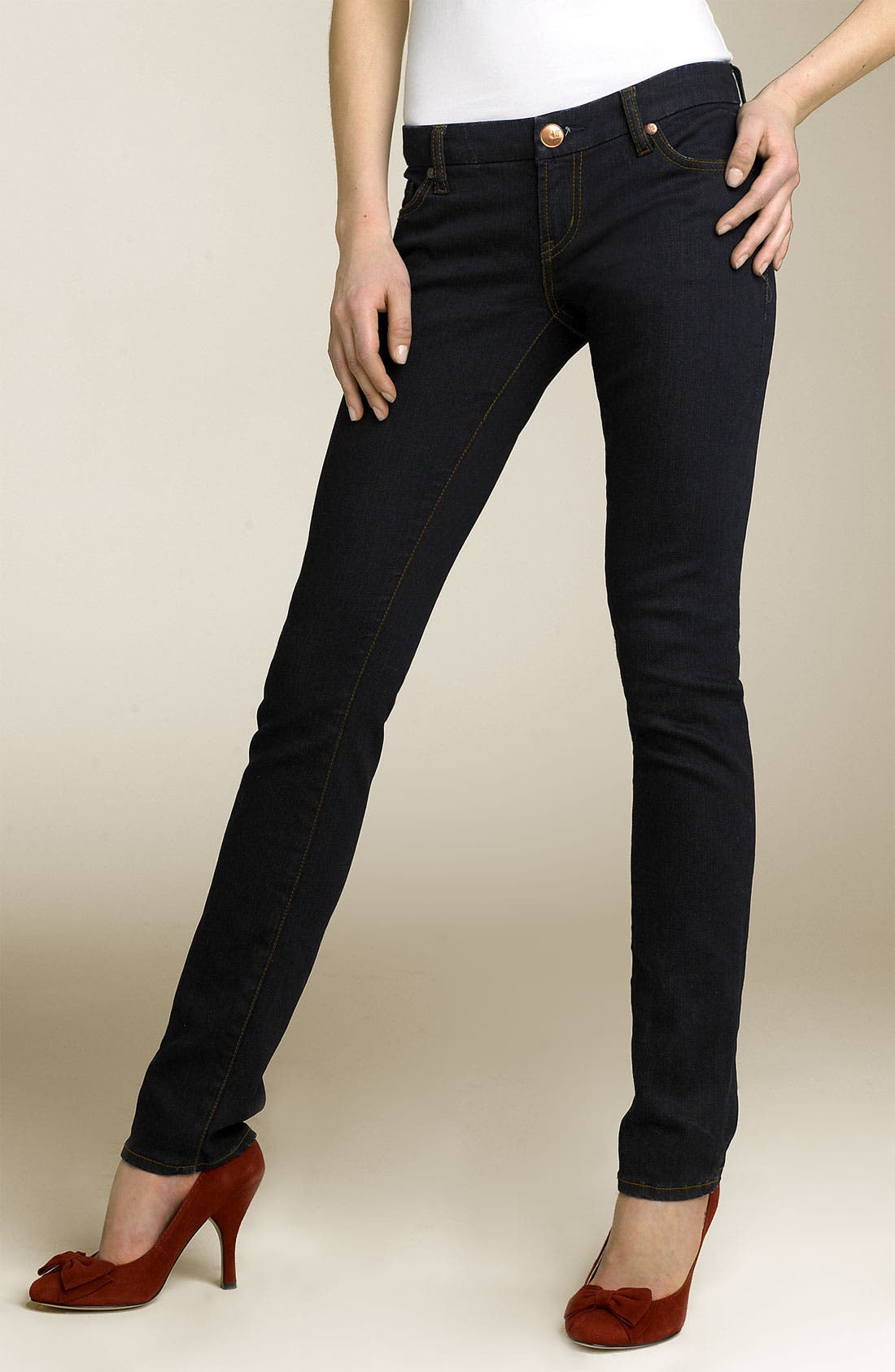 Alternate Image 1 Selected - !iT Collective 'Rising Starlet' Skinny Stretch Jeans (Juniors)