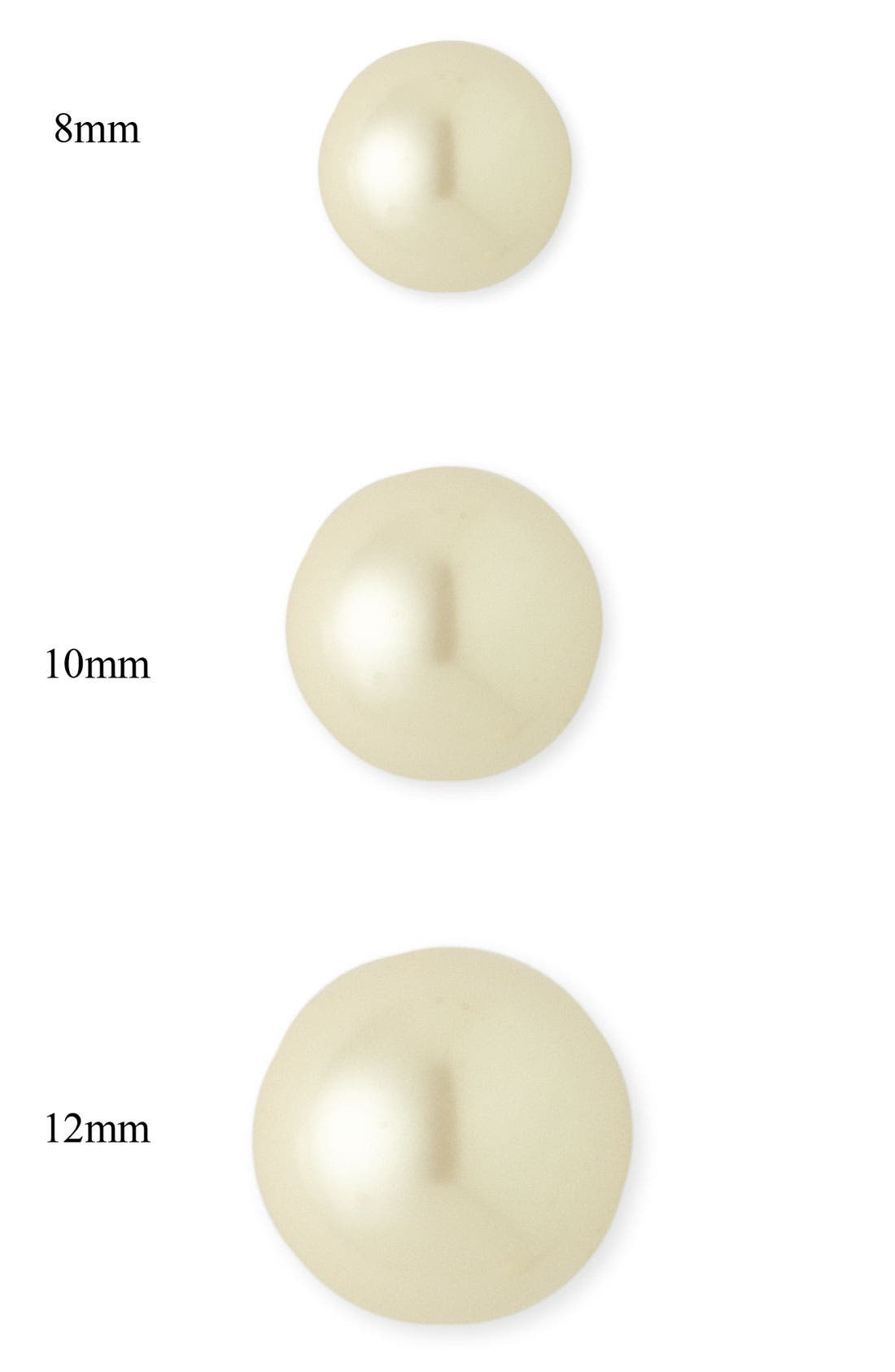 Alternate Image 4  - Nordstrom 10mm Glass Pearl Stud Earrings