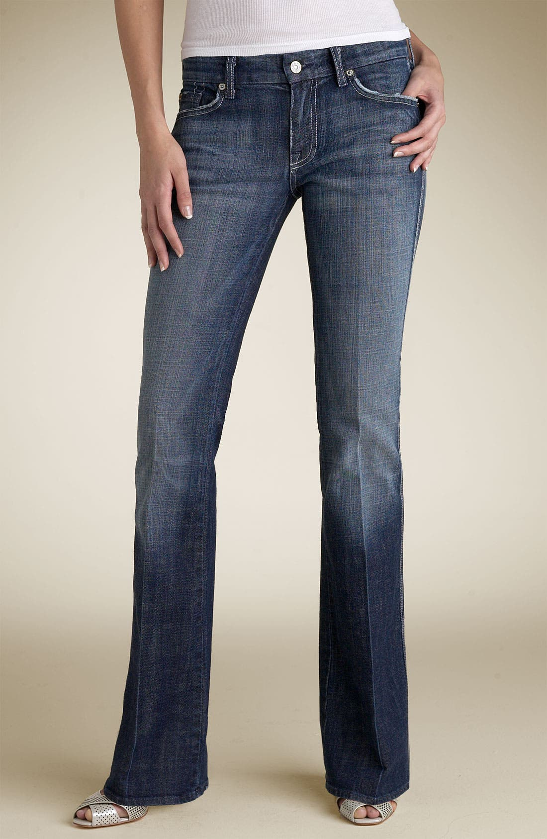 Alternate Image 2  - 7 For All Mankind® A-Pocket Stretch Jeans (Dark New York Wash)