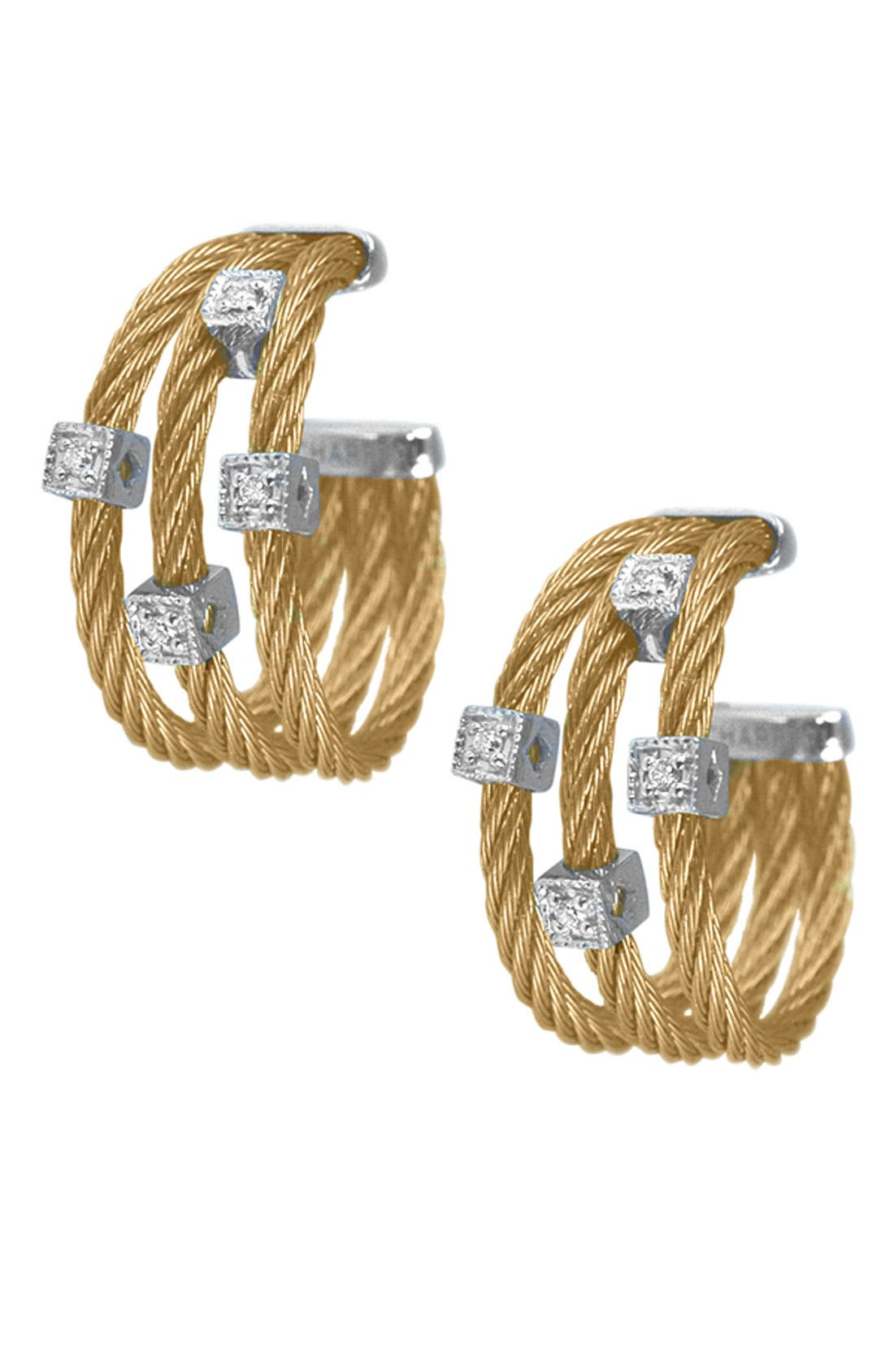 Main Image - ALOR® Diamond Hoop Earrings