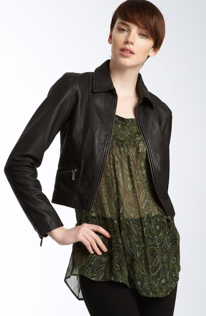 Winter Kate Crop Leather Jacket   Nordstrom
