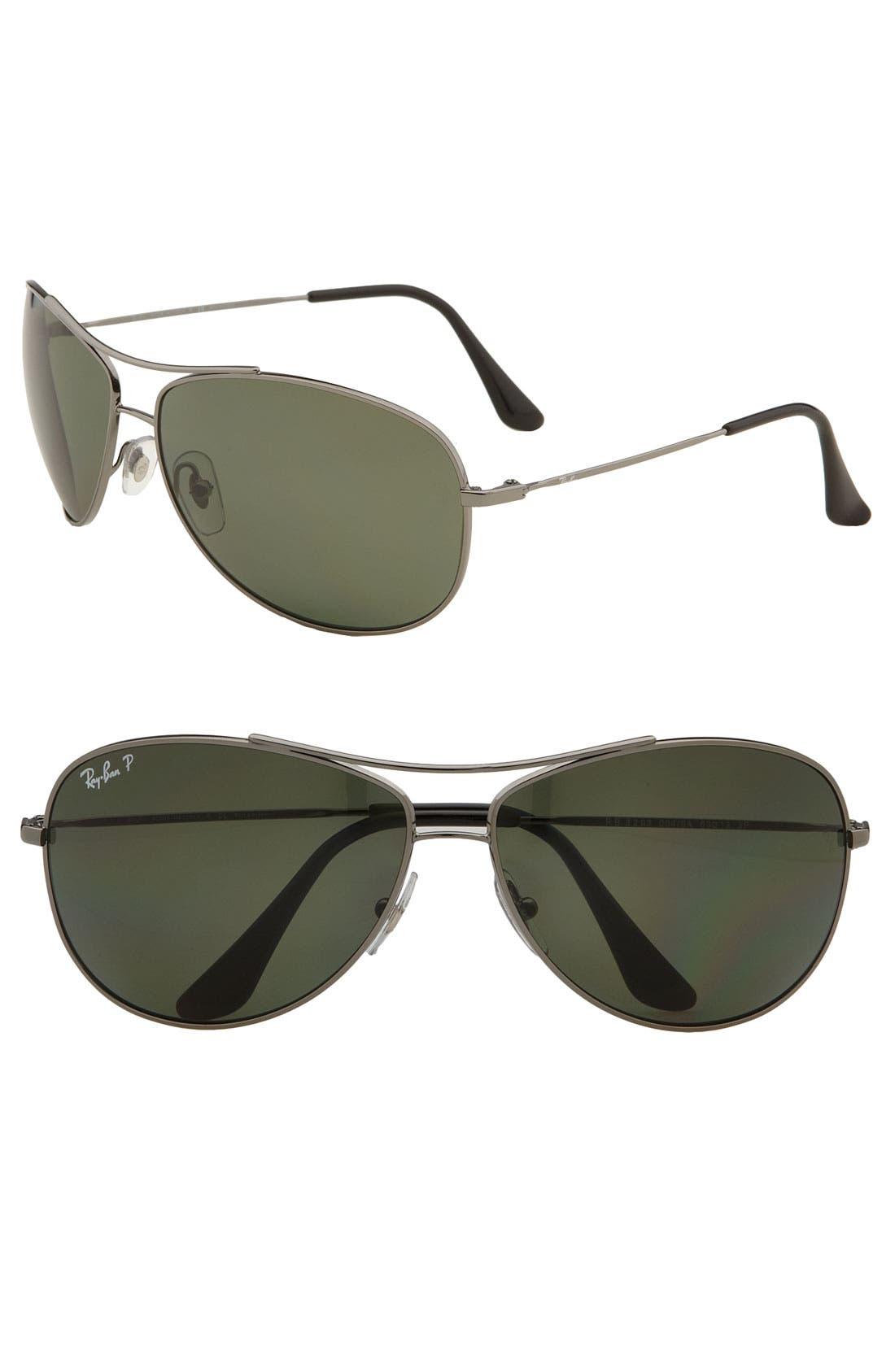 Alternate Image 1 Selected - Ray-Ban 'Bubble Wrap Aviator' Polarized 63mm Sunglasses