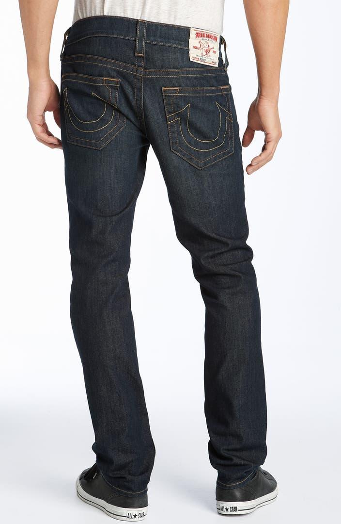 true religion brand jeans 39 rocco 39 slim fit jeans two timer dark wash nordstrom. Black Bedroom Furniture Sets. Home Design Ideas