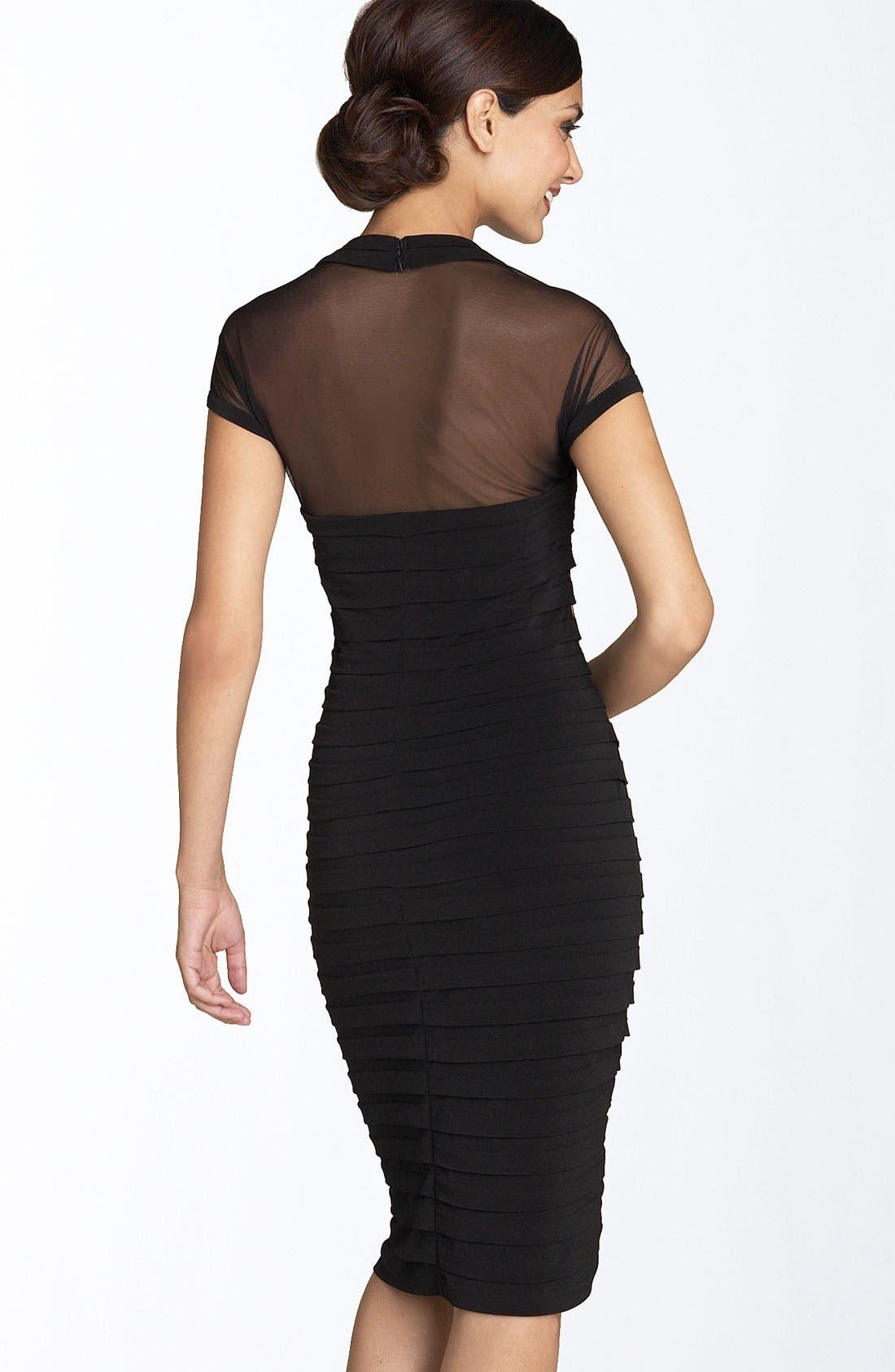 Alternate Image 2  - Maggy London Illusion Back Pleated Matte Jersey Dress (Regular & Petite)