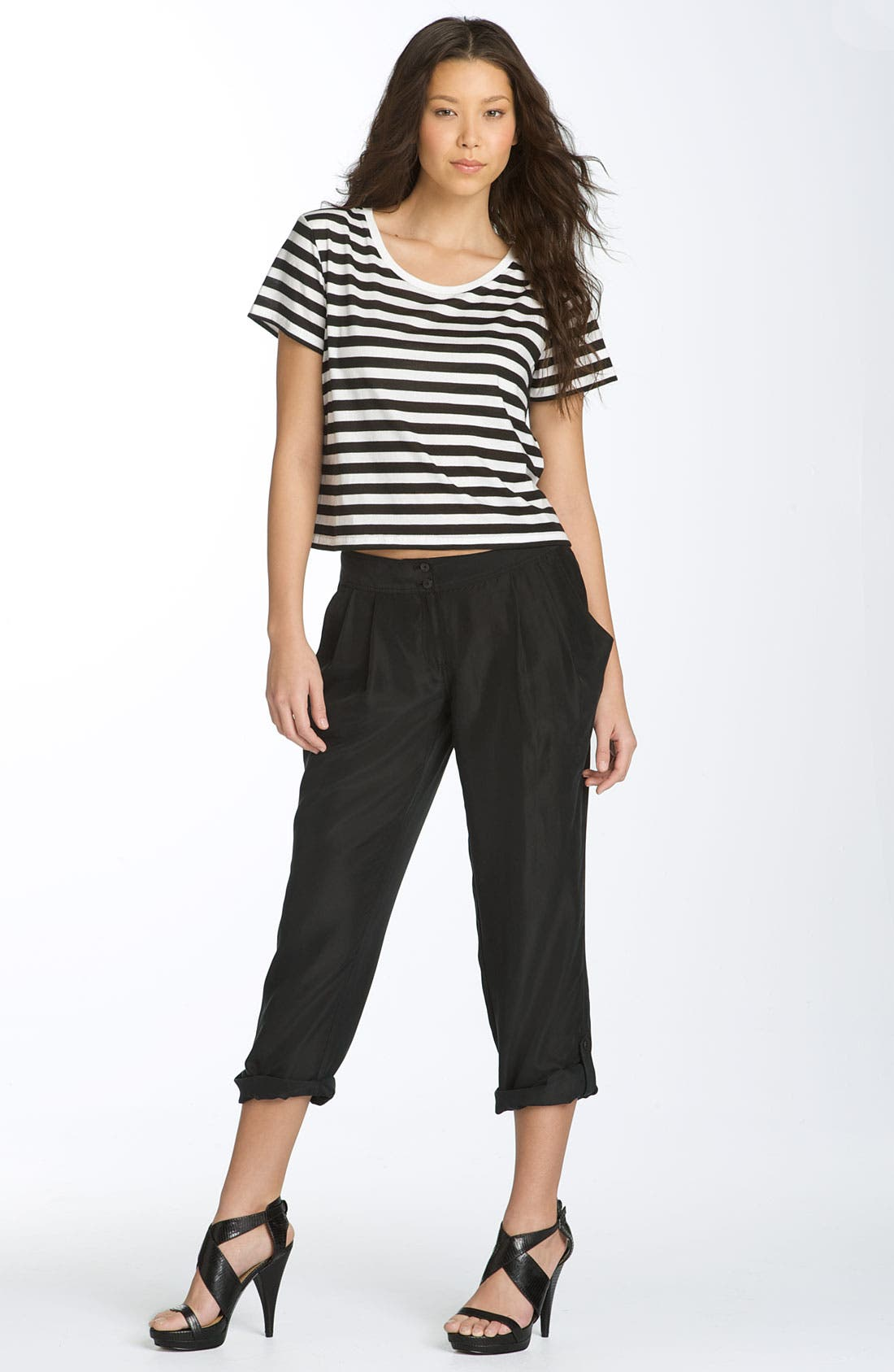 Alternate Image 3  - Hinge® Skinny Silk Pants