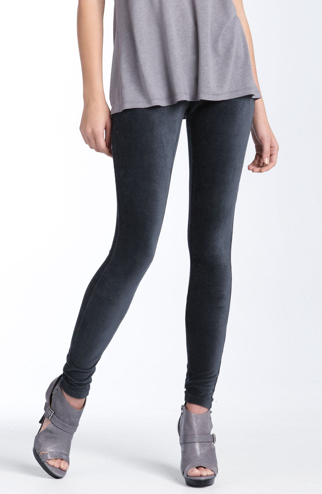 Alternate Image 1 Selected - Hue Corduroy Stretch Leggings