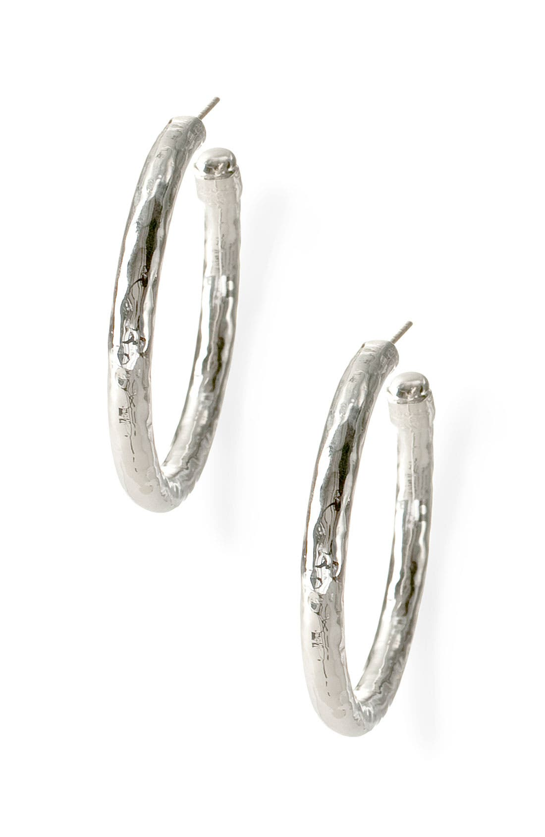 Ippolita 'Glamazon - Number 3' Skinny Hammered Hoop Earrings