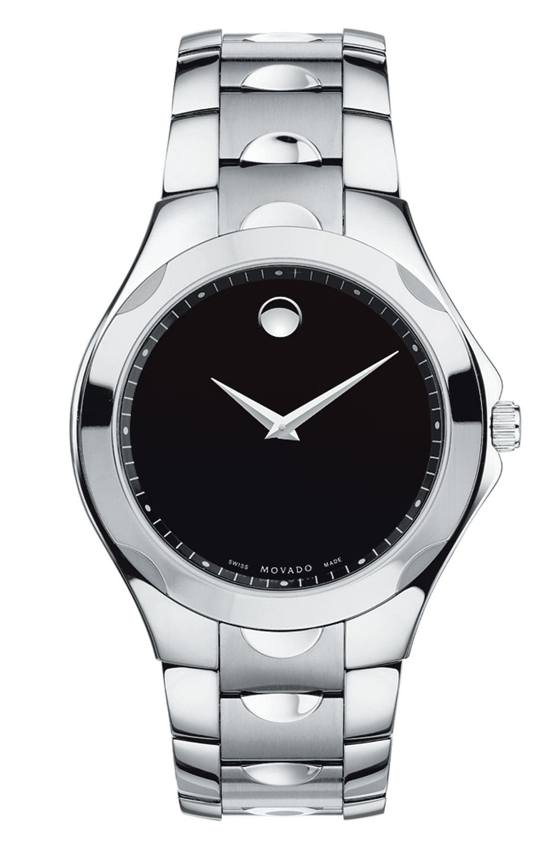 Alternate Image 1 Selected - Movado 'Luno Sport' Stainless Steel Bracelet Watch, 41mm