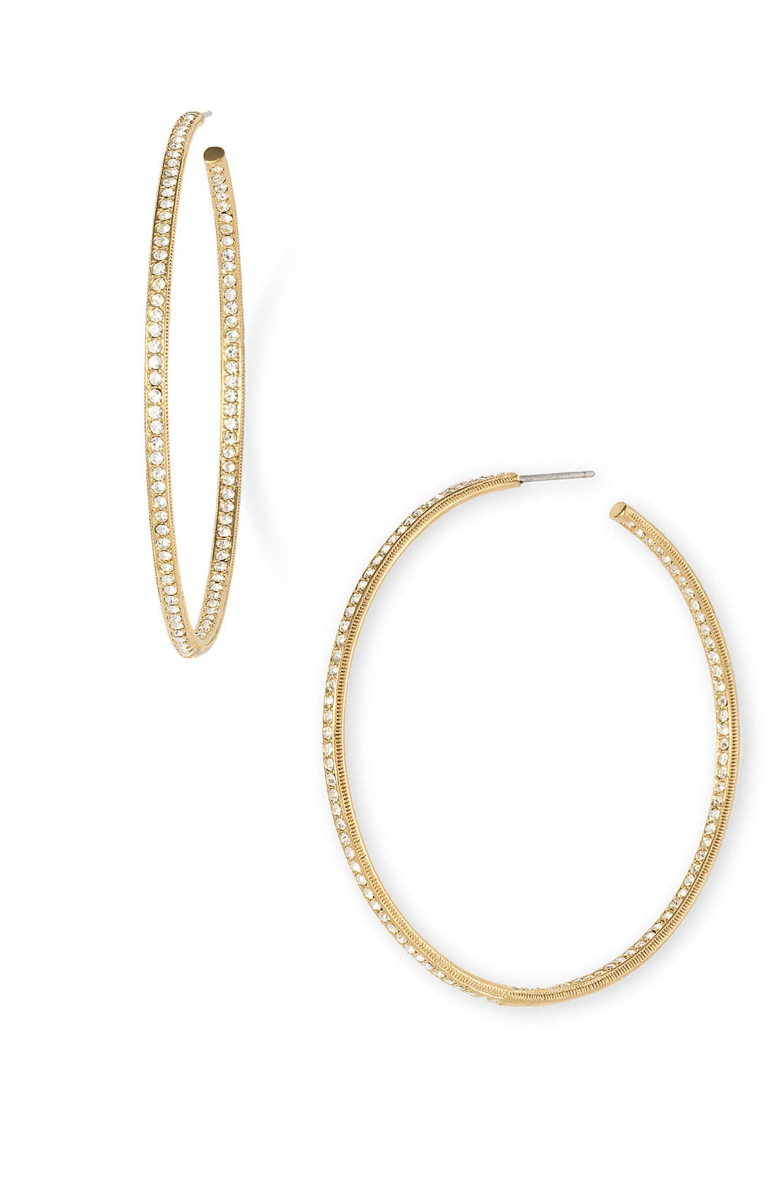 Alternate Image 1 Selected - Nadri Pavé Inside Out Hoop Earrings