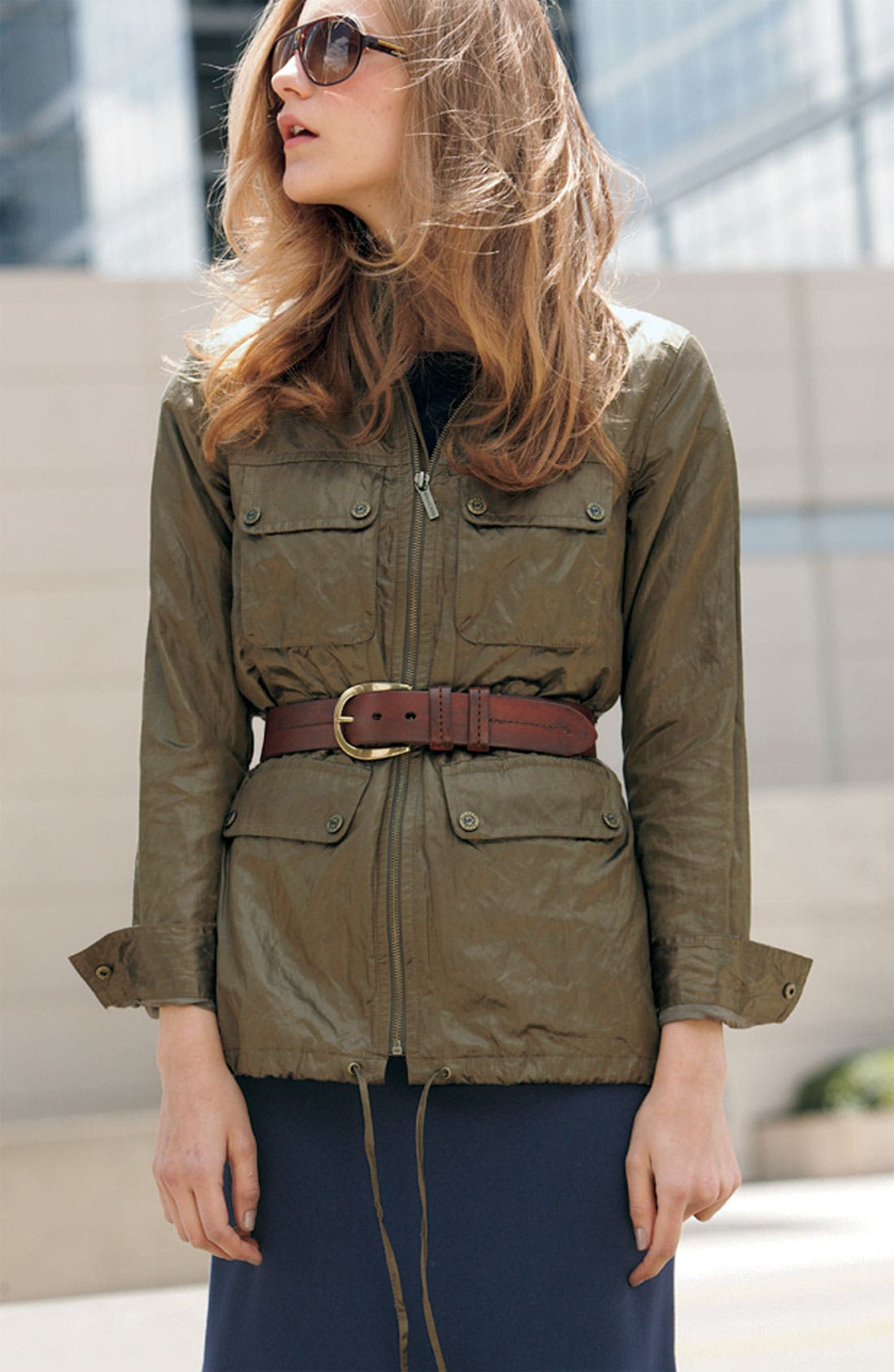 Alternate Image 2  - MICHAEL Michael Kors Belted Military Jacket