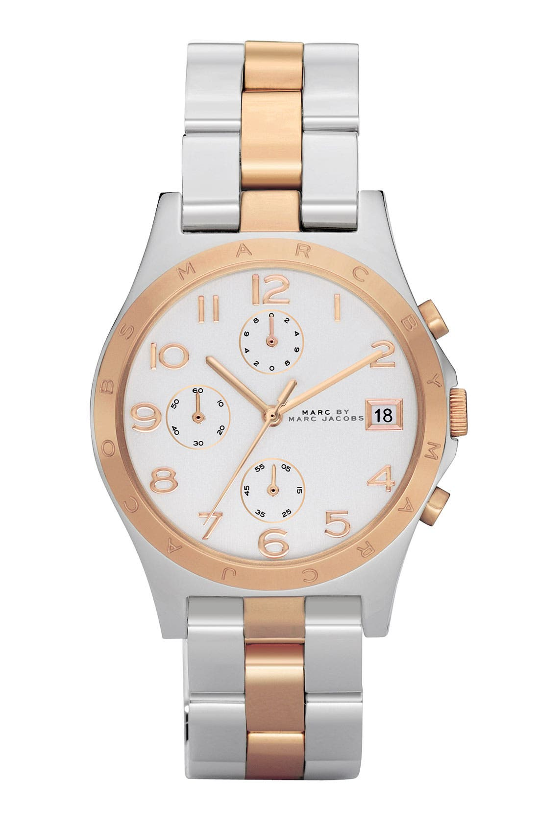 Main Image - MARC JACOBS 'Henry' Two-Tone Chronograph Watch