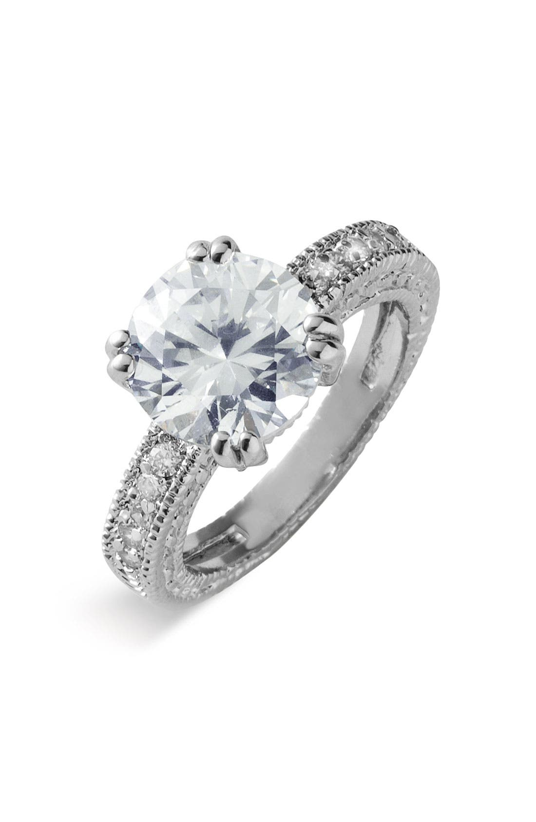 Alternate Image 1 Selected - Ariella Collection 'Antique Detail' Round Ring