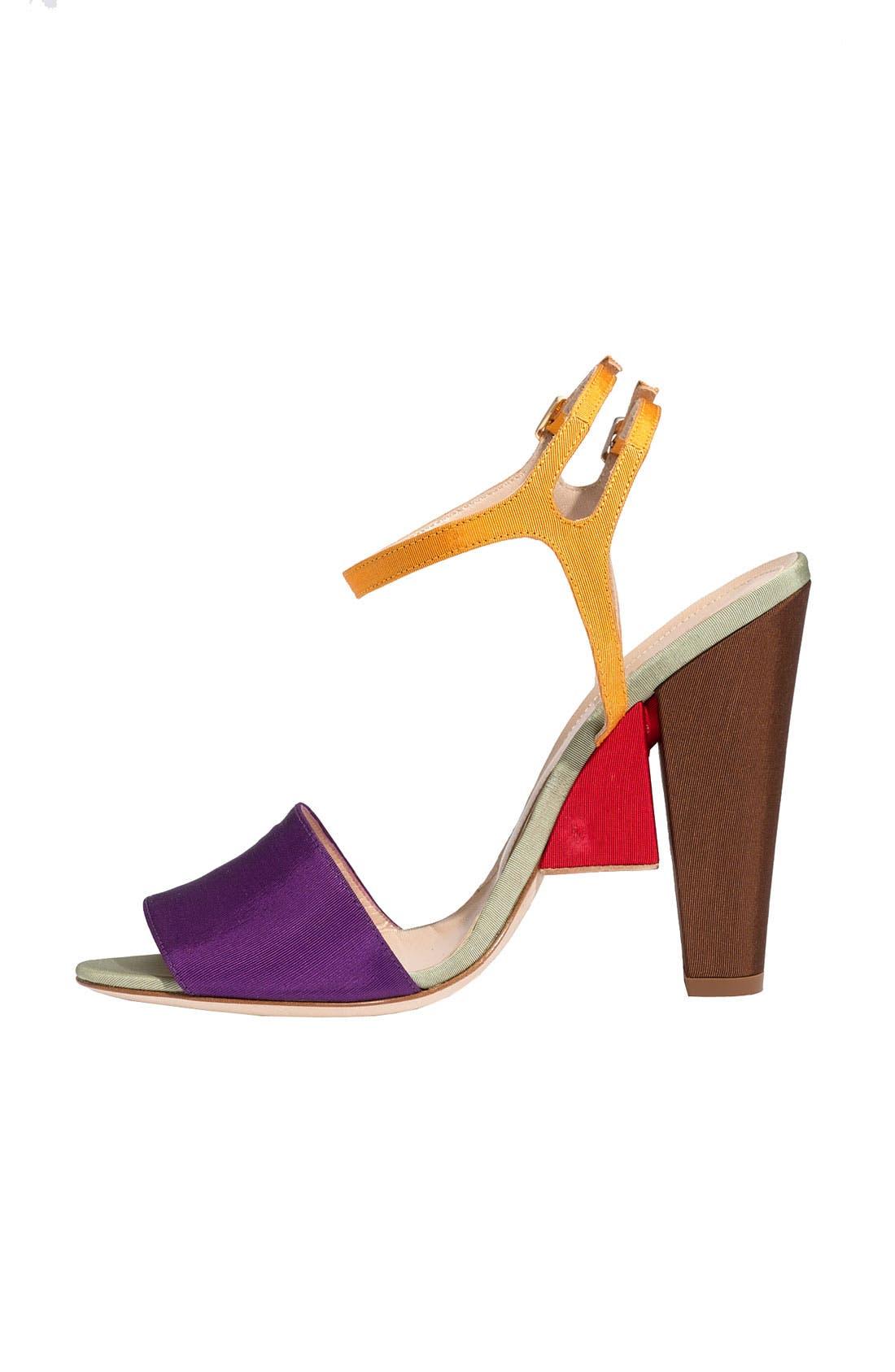 Alternate Image 2  - Fendi Colorblock Grosgrain Sandal