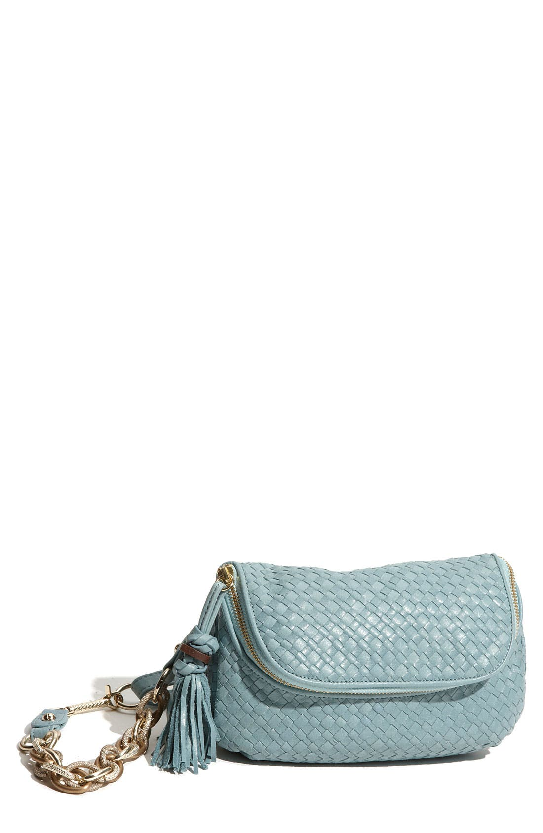 Main Image - Elliott Lucca Woven Leather Hip Pouch
