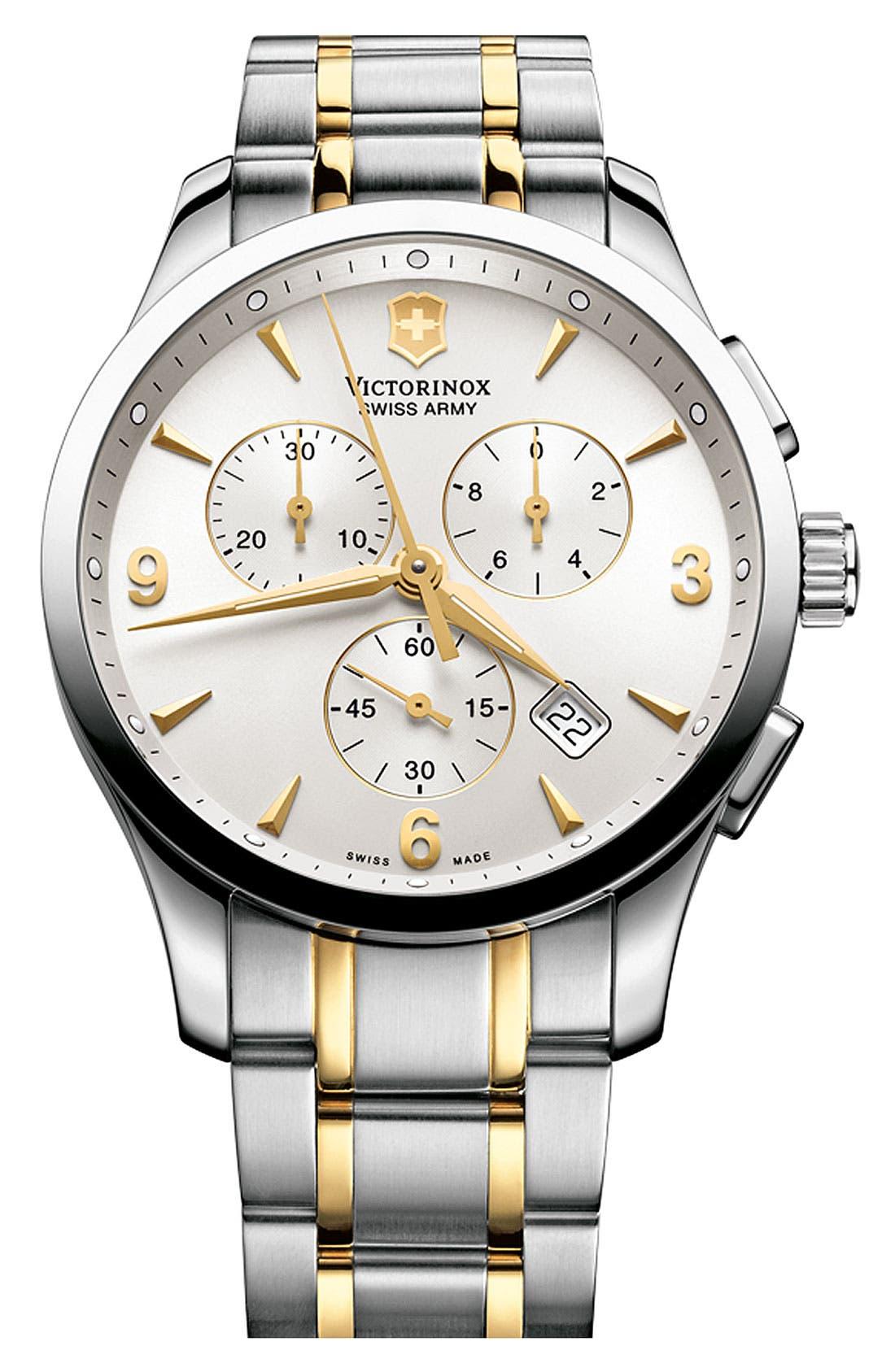 Main Image - Victorinox Swiss Army® 'Alliance Chrono' Large Bracelet Watch, 42mm