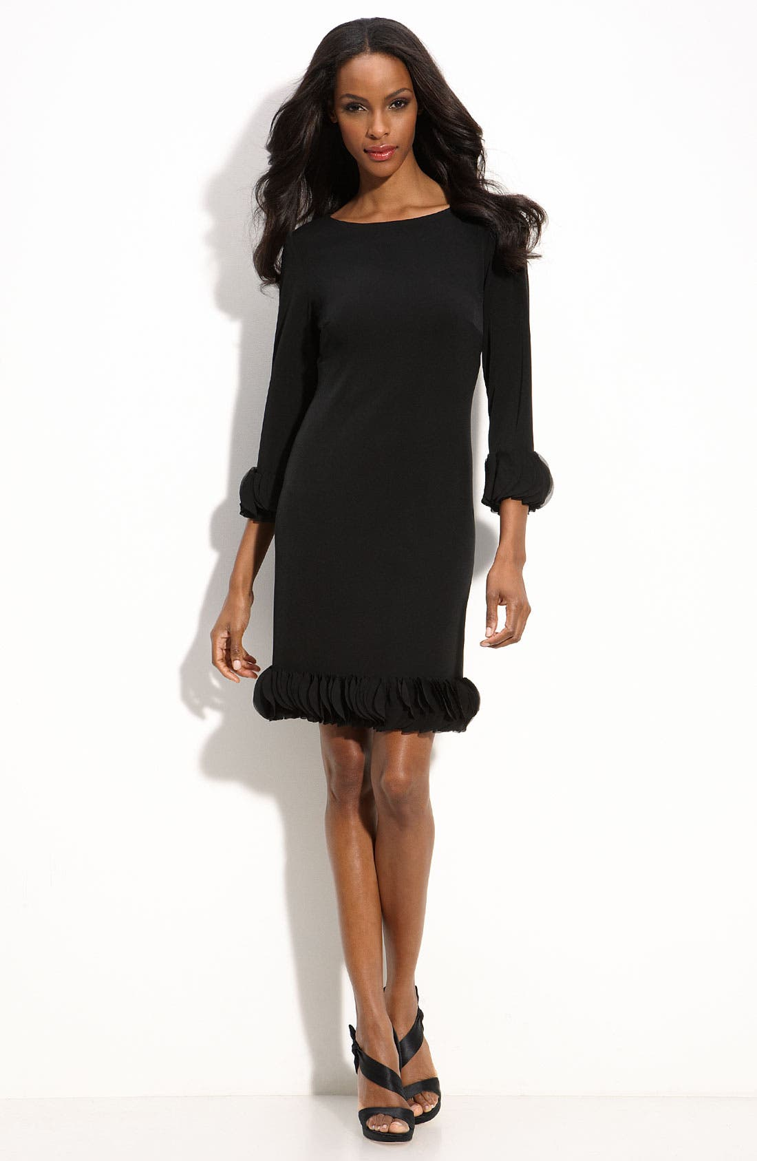 Alternate Image 1 Selected - Donna Morgan Chiffon Trim Jersey Sheath Dress