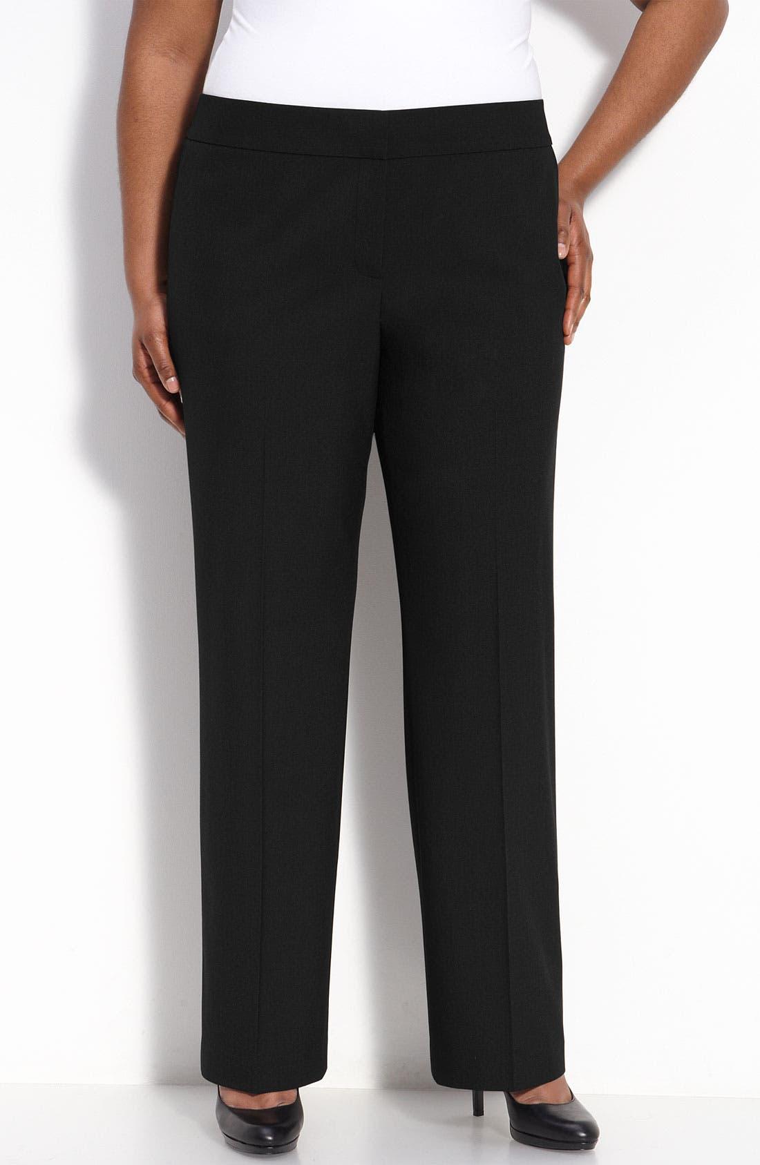 Main Image - Sejour Straight Fit Trousers (Petite Plus)
