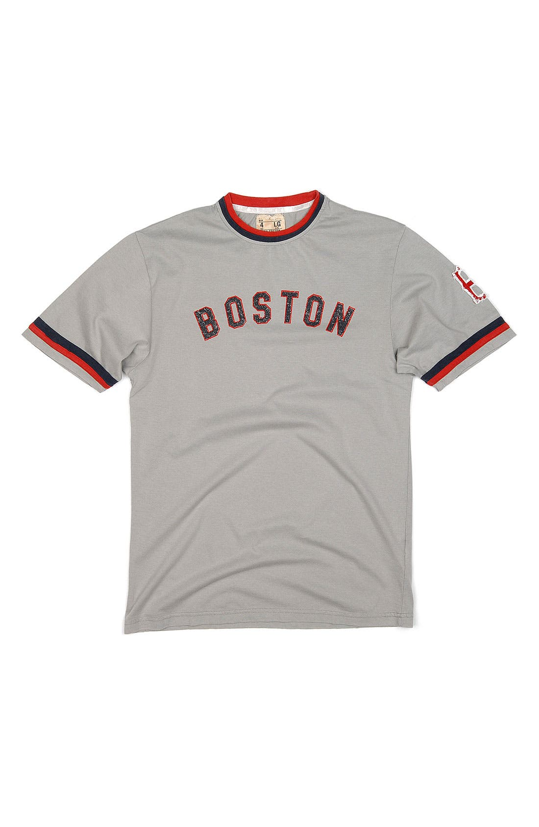 Main Image - Red Jacket 'Boston Red Sox' Trim Fit Ringer T-Shirt (Men)