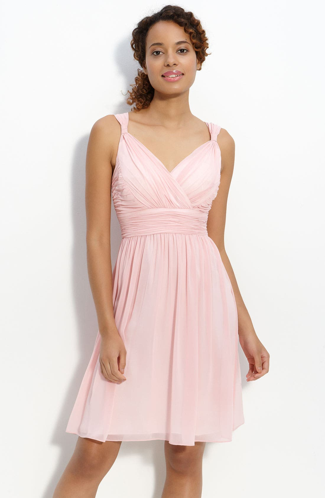 Alternate Image 1 Selected - Donna Morgan 'Jackie' Ruched Chiffon Dress