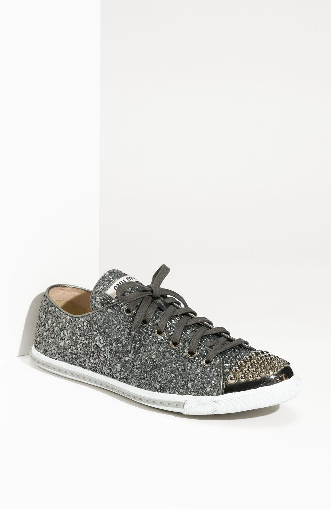 Main Image - Miu Miu Glitter Sneaker