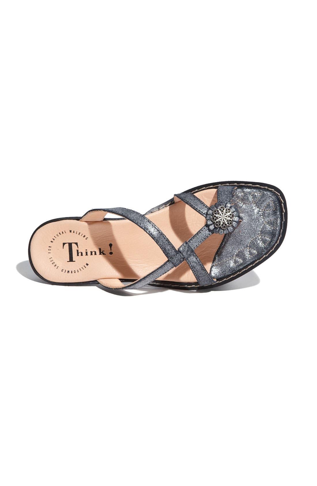 Alternate Image 3  - Think! 'Soso' Metallic Leather Sandal