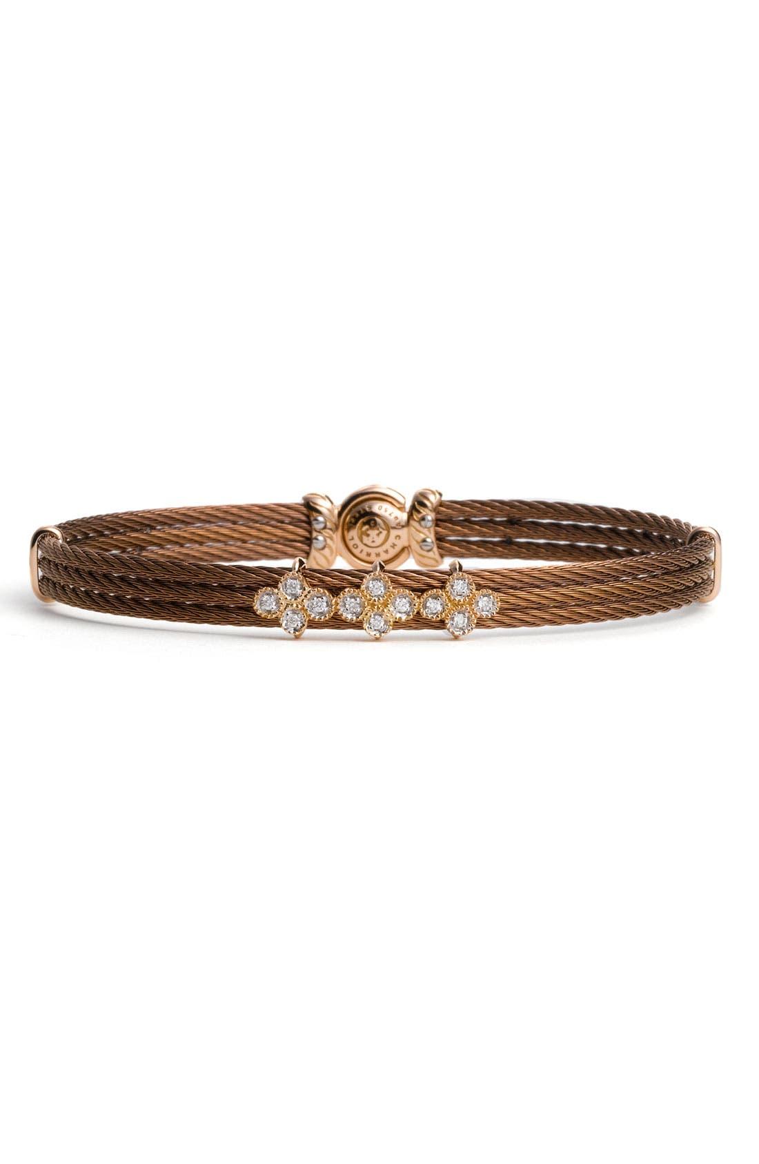 Alternate Image 1 Selected - ALOR® Gold, Diamond & Bronze Bracelet