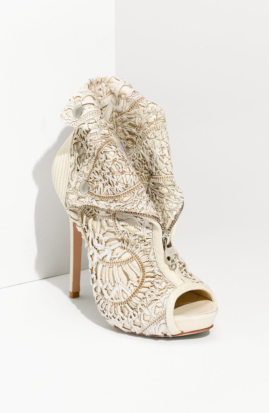 Alternate Image 1 Selected - Alexander McQueen Laser Cut Bootie