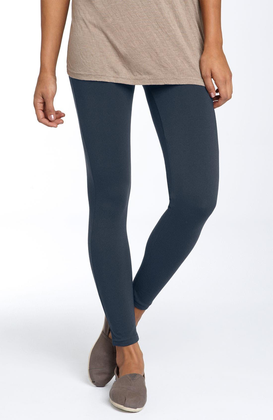 Alternate Image 1 Selected - BP. 'Turn Back' Stretch Cotton Leggings (Juniors)