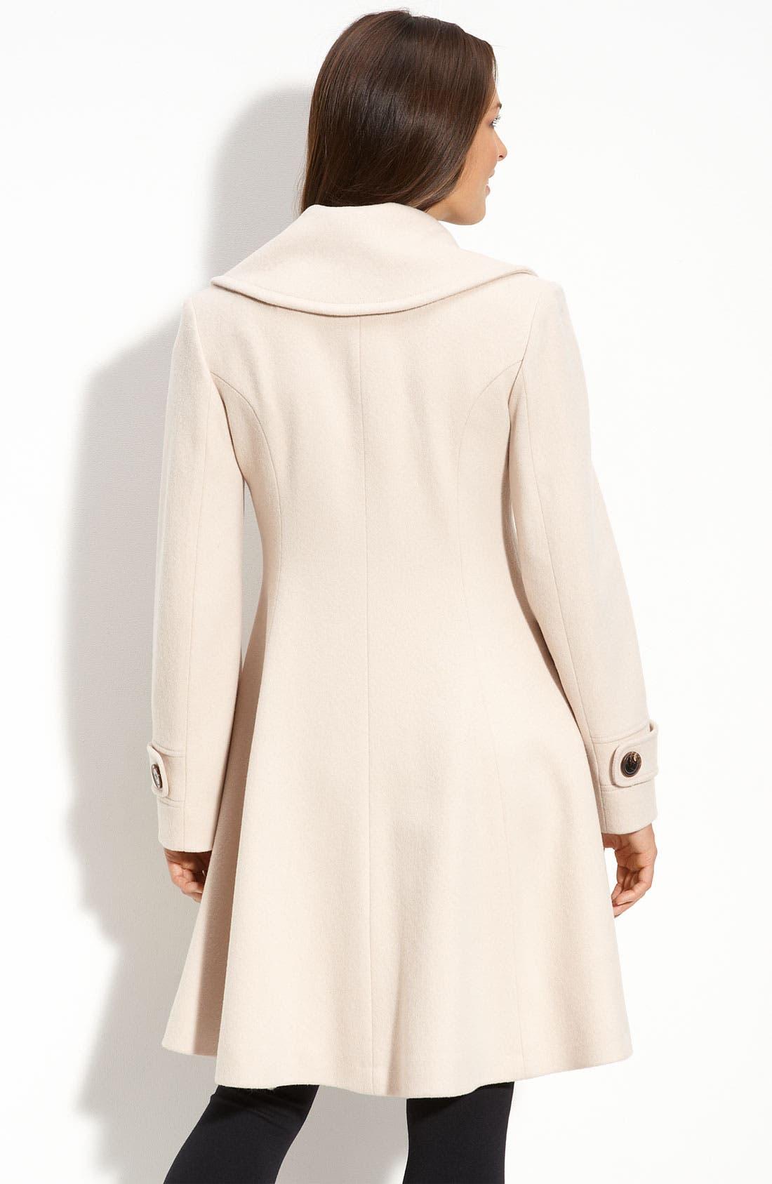 Alternate Image 2  - Fleurette Double Breasted Wool Coat