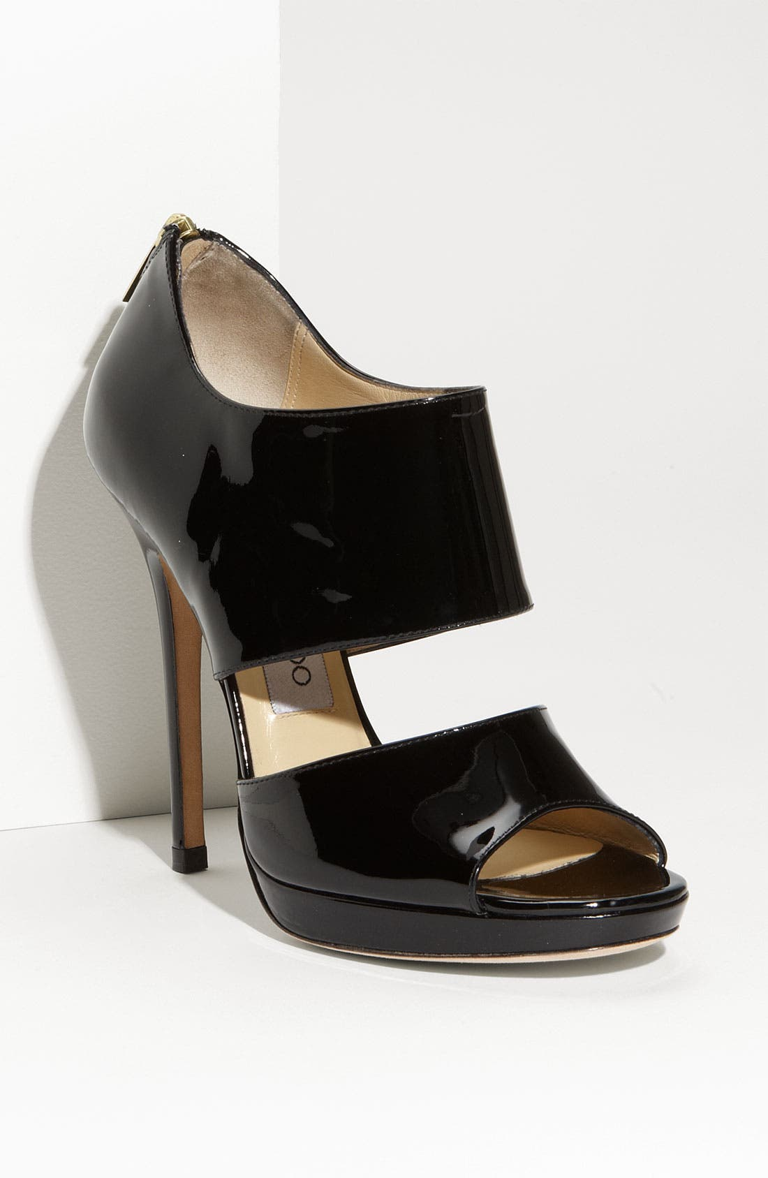 Alternate Image 1 Selected - Jimmy Choo 'Private' Cuff Patent Leather Sandal
