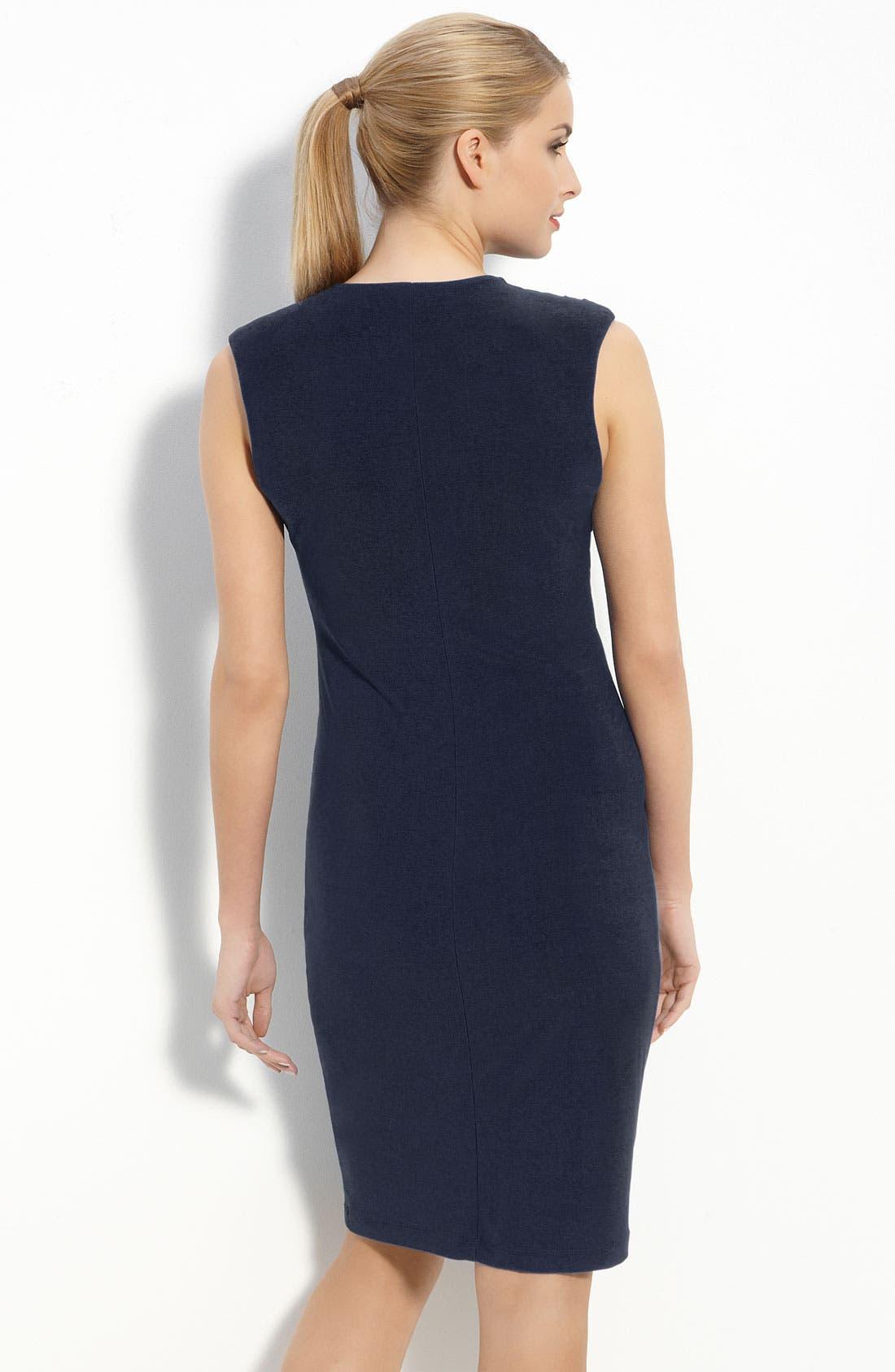 Alternate Image 2  - Komarov Jersey Draped V-Neck Dress