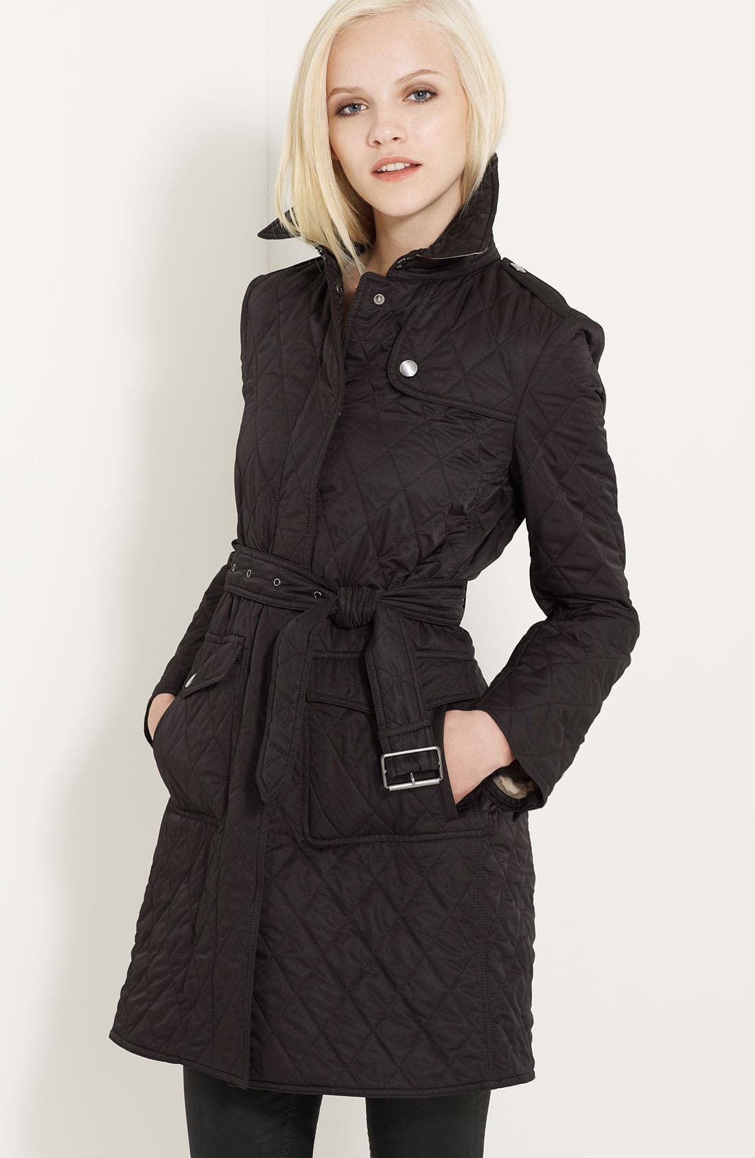 Main Image - Burberry Brit 'Trillbridge' Quilted Coat