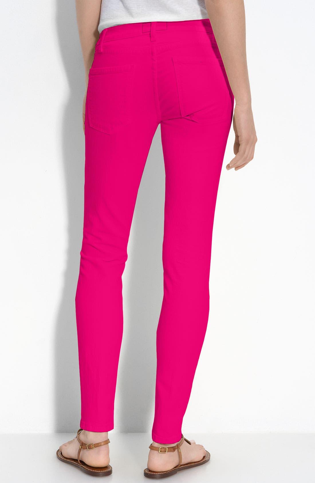 Alternate Image 2  - Current/Elliott Skinny Stretch Ankle Jeans (Bright Rose Wash)