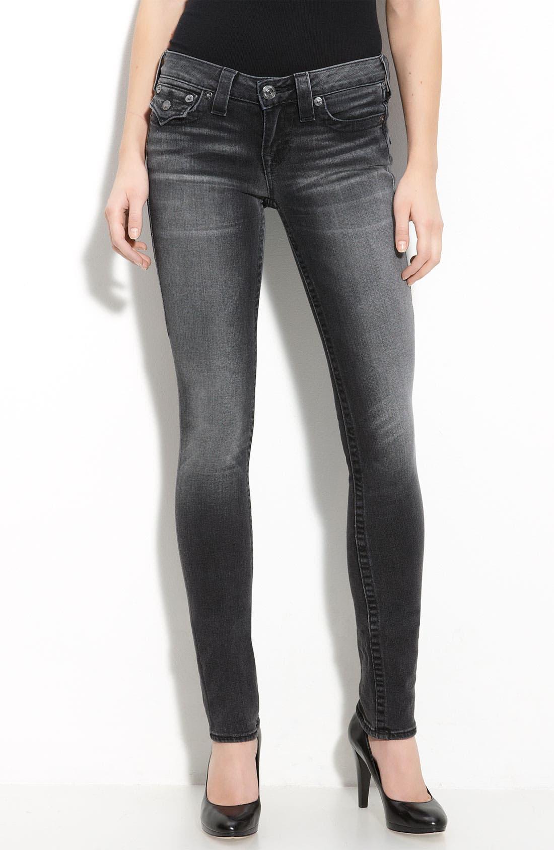 Alternate Image 2  - True Religion Brand Jeans 'Julie' Skinny Stretch Jeans (Short Fuse Wash)
