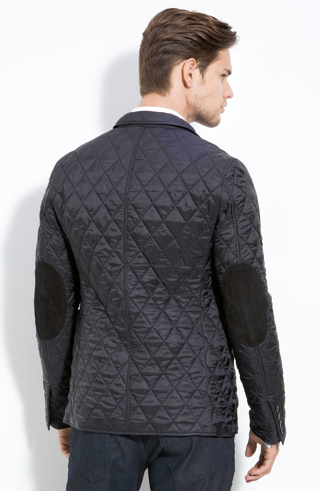 Alternate Image 2  - Burberry Quilted Blazer