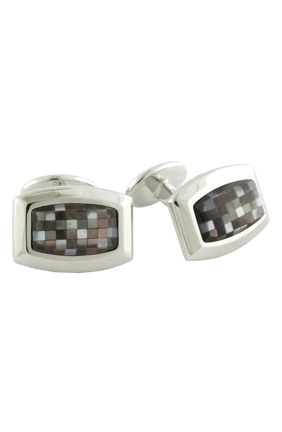 Alternate Image 1 Selected - David Donahue Rounded Rectangle Sterling Silver Cuff Links