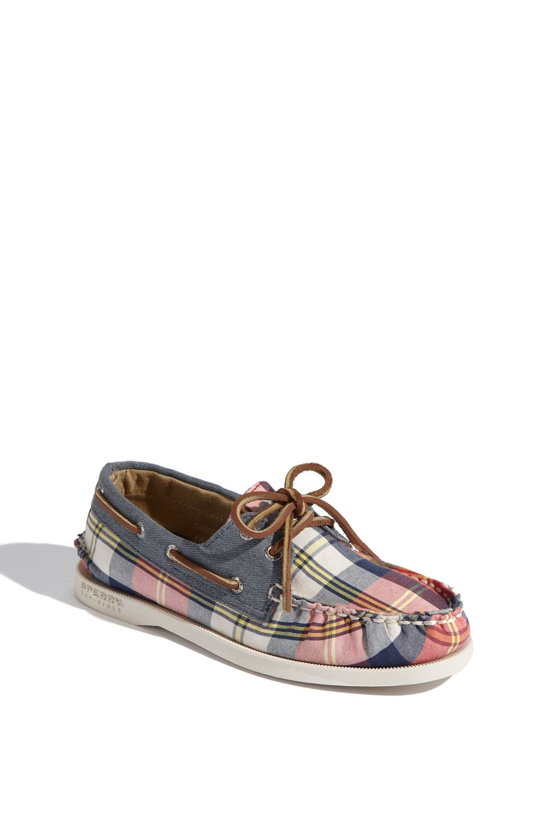 Alternate Image 1 Selected - Sperry Top-Sider® 'Authentic Original Plaid' Boat Shoe (Walker & Toddler)