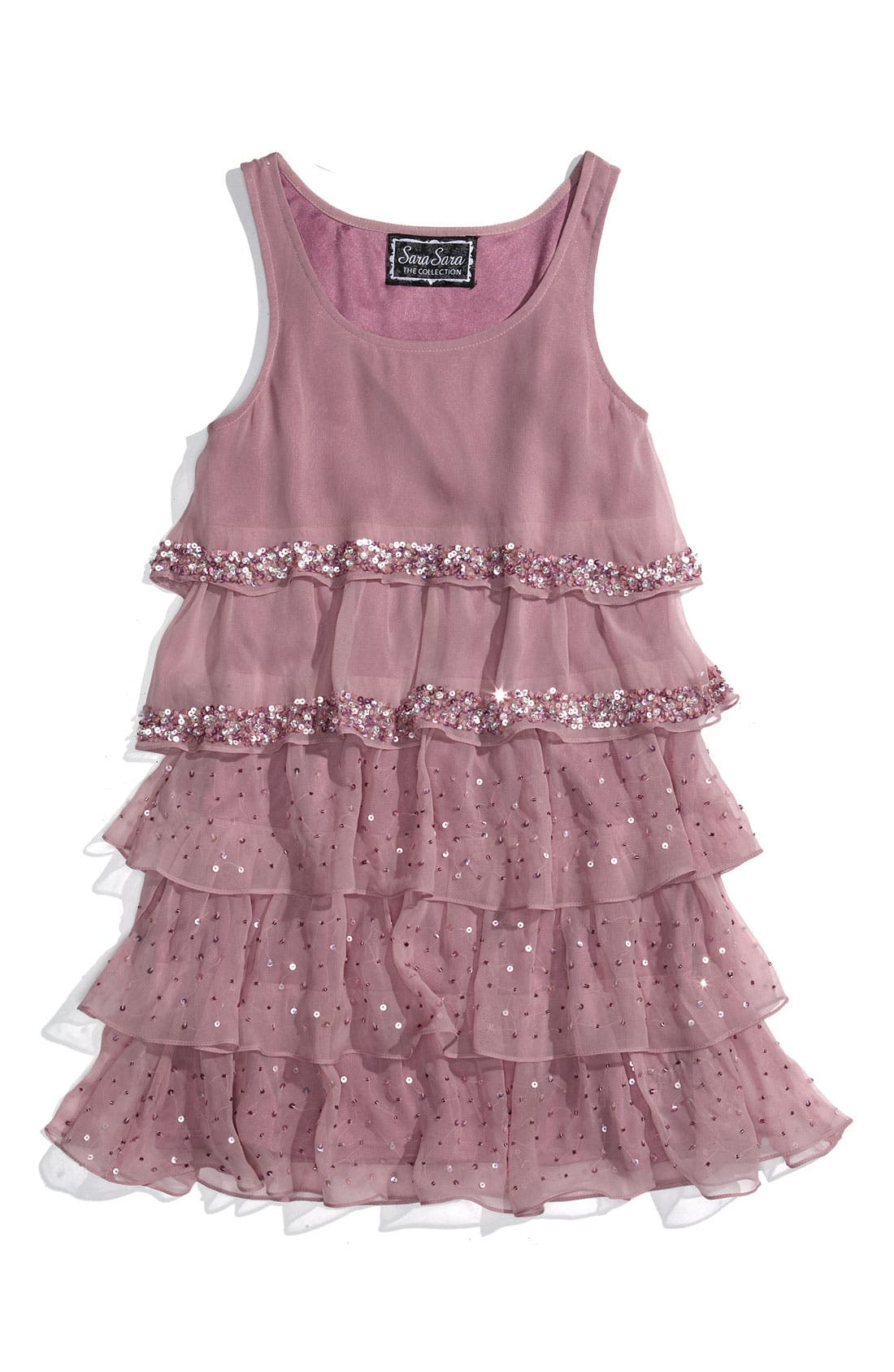 Alternate Image 1 Selected - Sara Sara Tiered Dress (Big Girls)