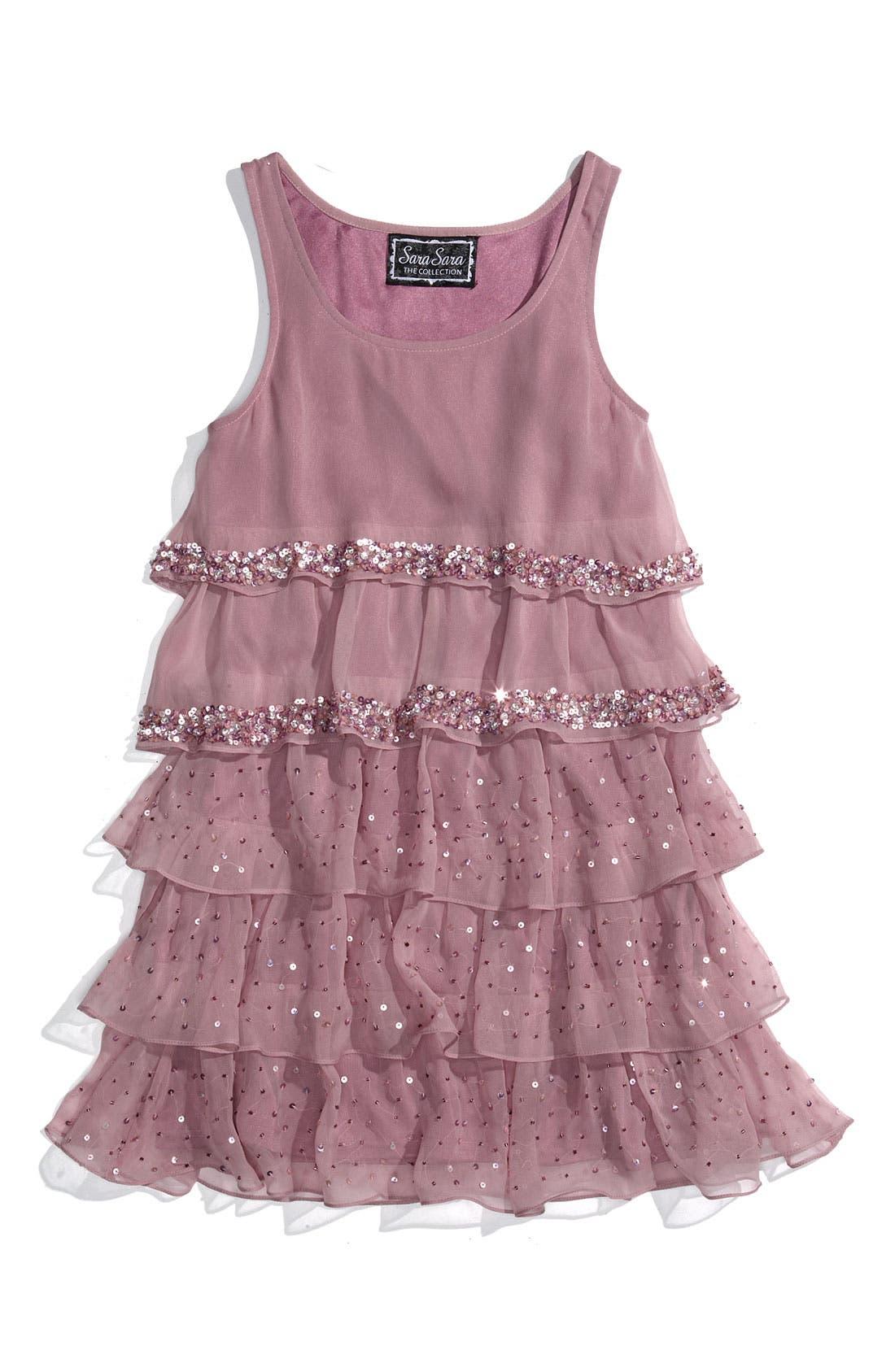 Main Image - Sara Sara Tiered Dress (Big Girls)