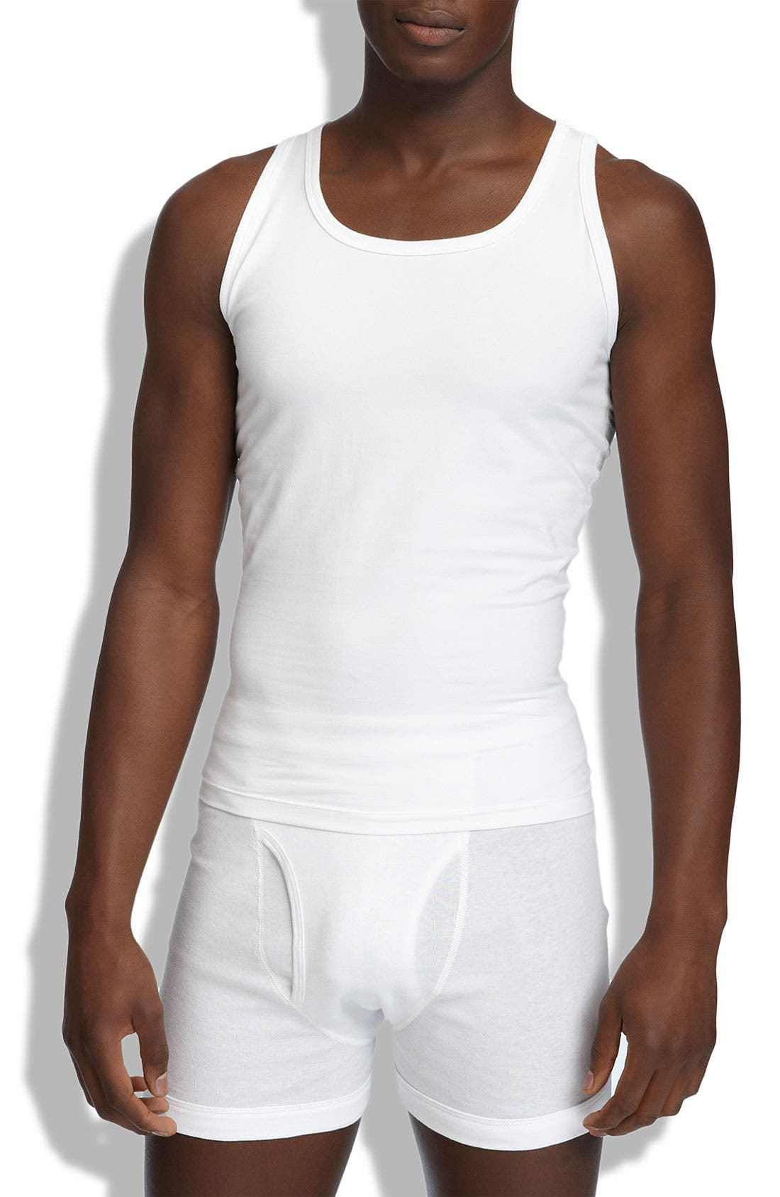 Alternate Image 1 Selected - SPANX® Cotton Compression Tank