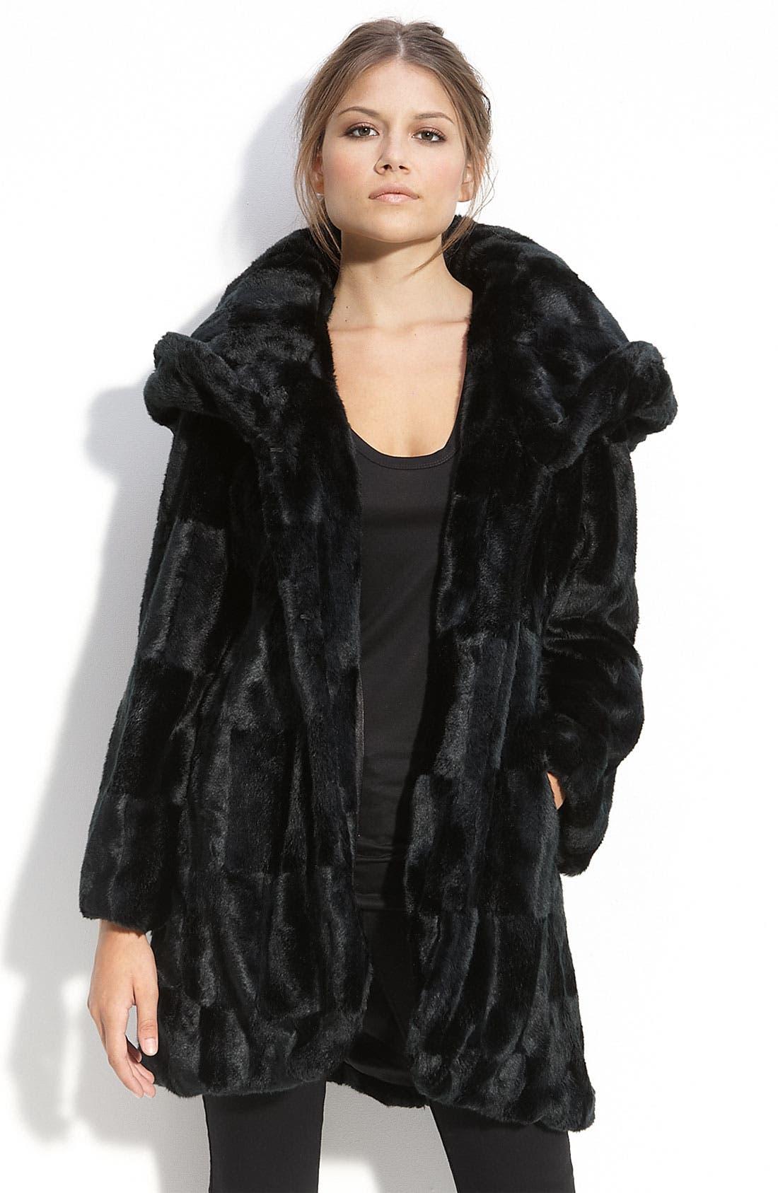 Alternate Image 2  - Tahari Hooded Faux Fur Coat