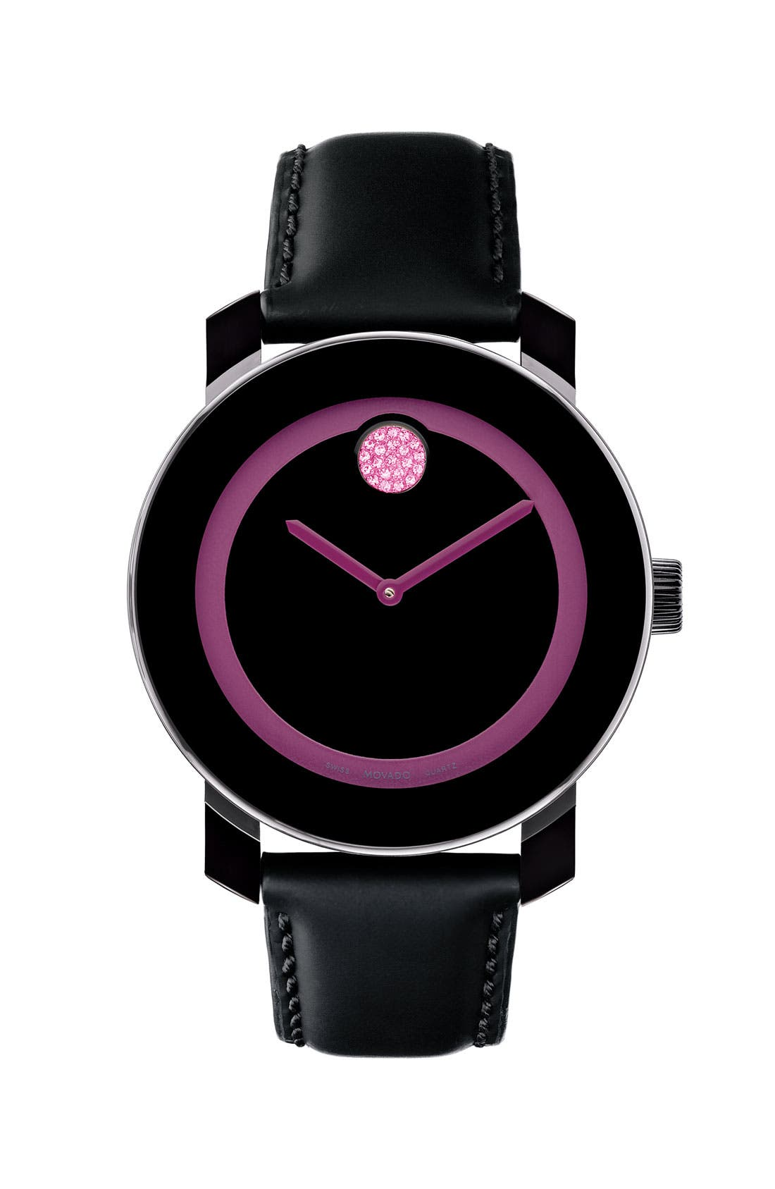 Main Image - Movado 'Small Bold - Breast Cancer Awareness' Watch (Limited Edition)