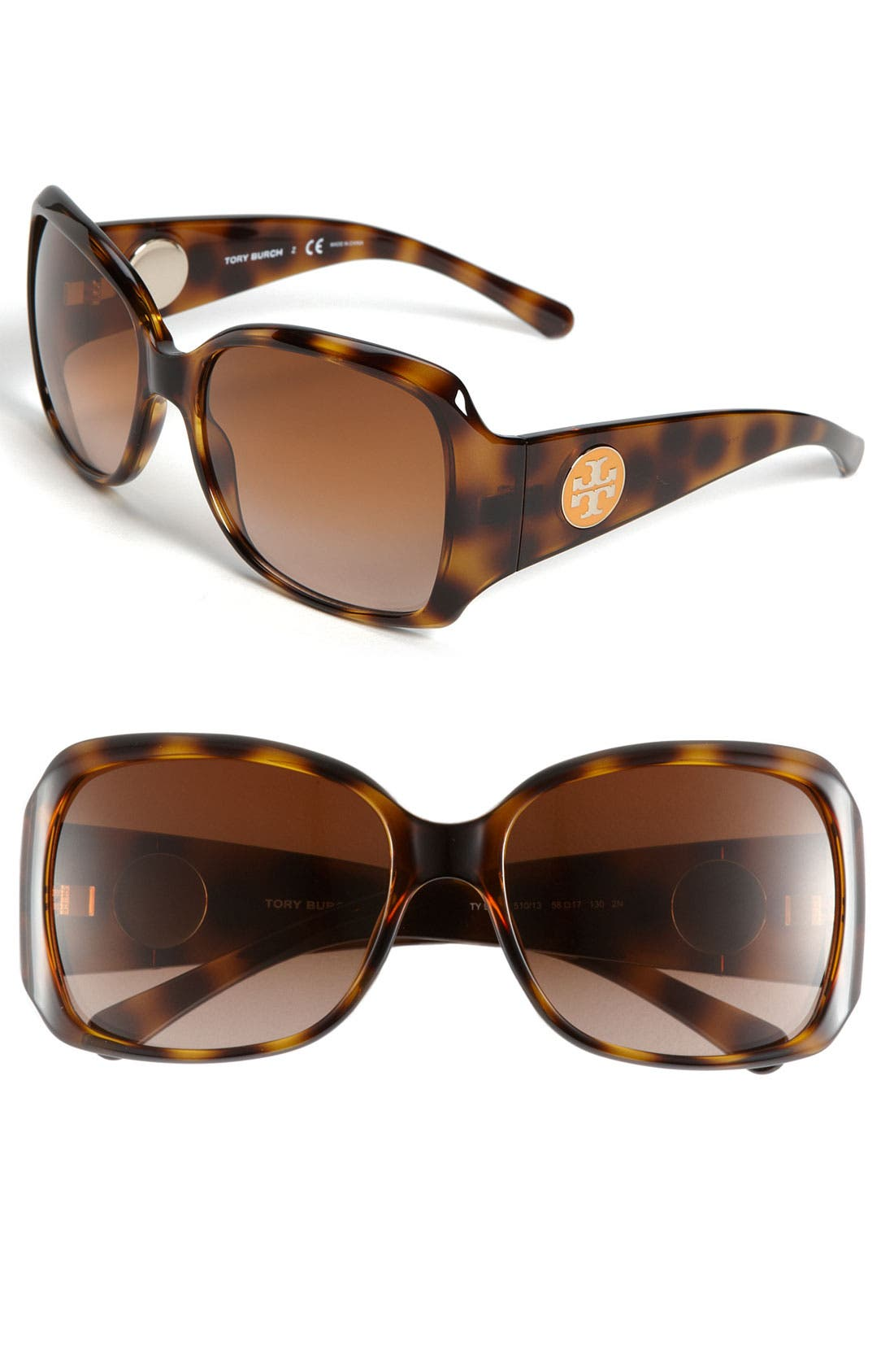 Alternate Image 1 Selected - Tory Burch 58mm Square Sunglasses (Online Only)