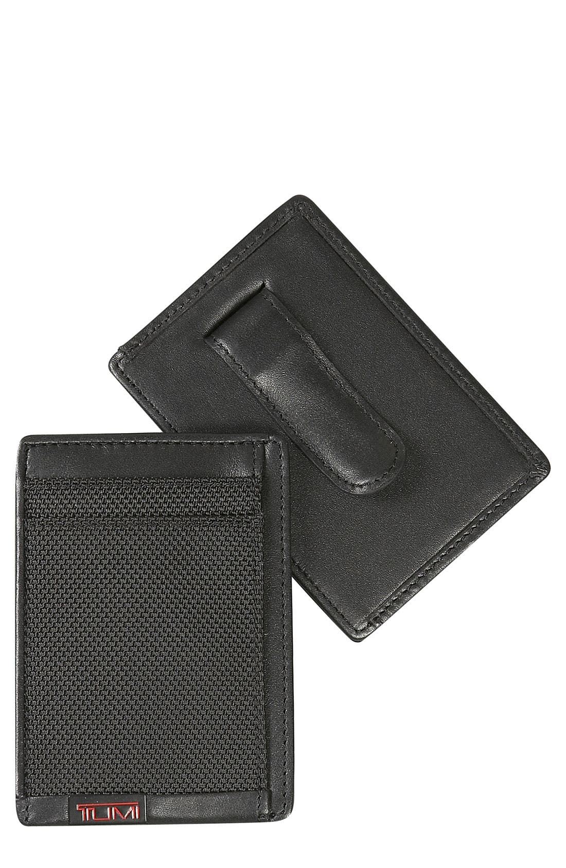 Tumi 'Alpha' Money Clip Card Case