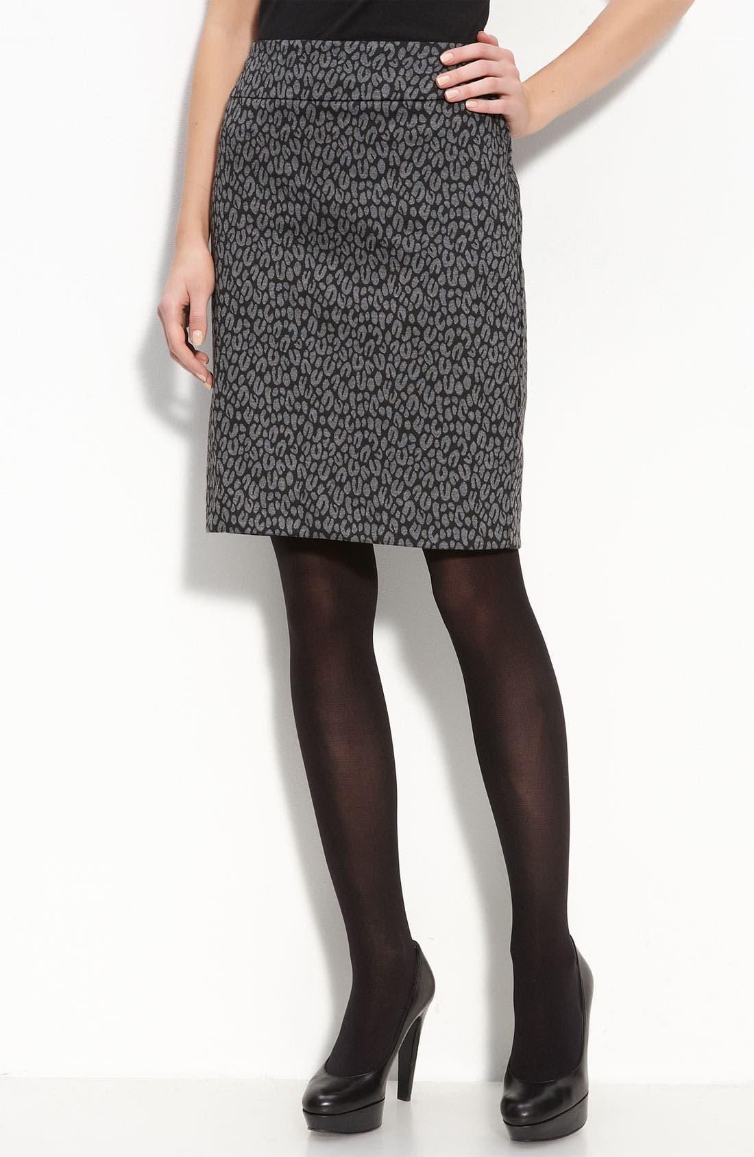 Alternate Image 1 Selected - Halogen® Patterned Knit Skirt
