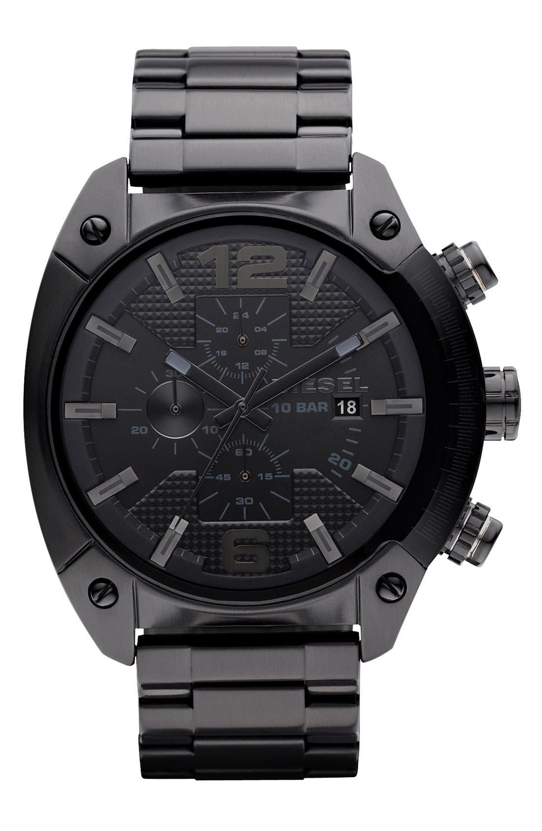Alternate Image 1 Selected - DIESEL® 'Overflow' Chronograph Bracelet Watch, 46mm x 49mm