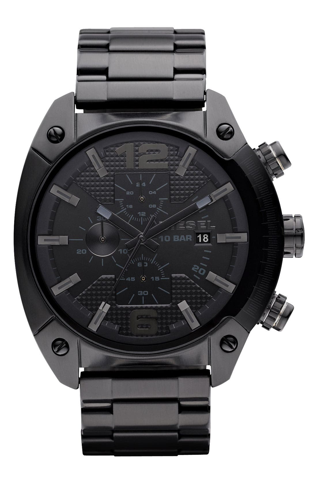 Main Image - DIESEL® 'Overflow' Chronograph Bracelet Watch, 46mm x 49mm