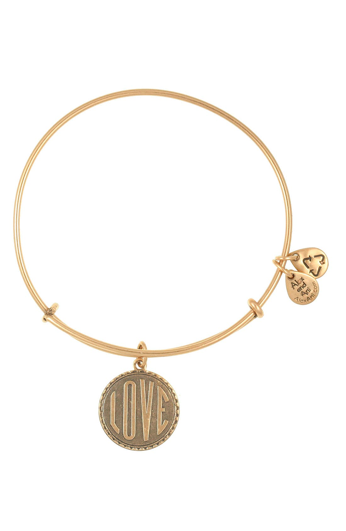 Main Image - Alex and Ani 'Love' Expandable Wire Bangle