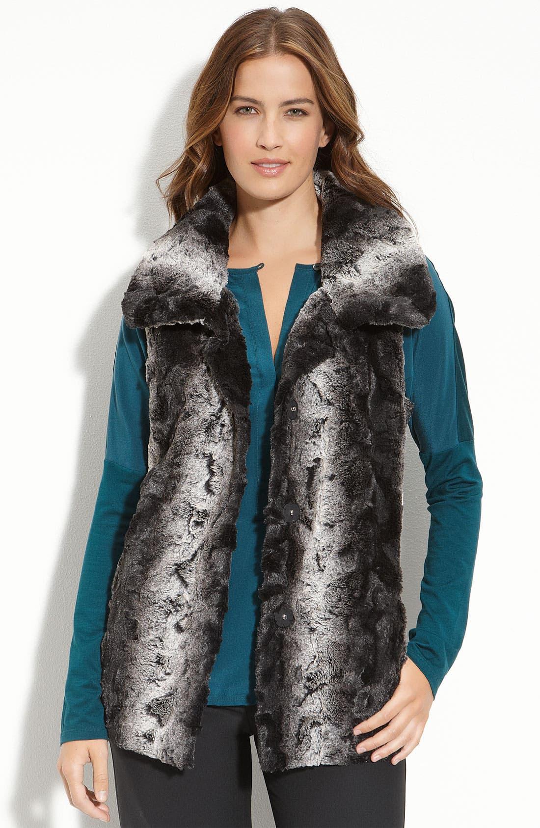 Alternate Image 2  - Gallery Belted Faux Fur Vest
