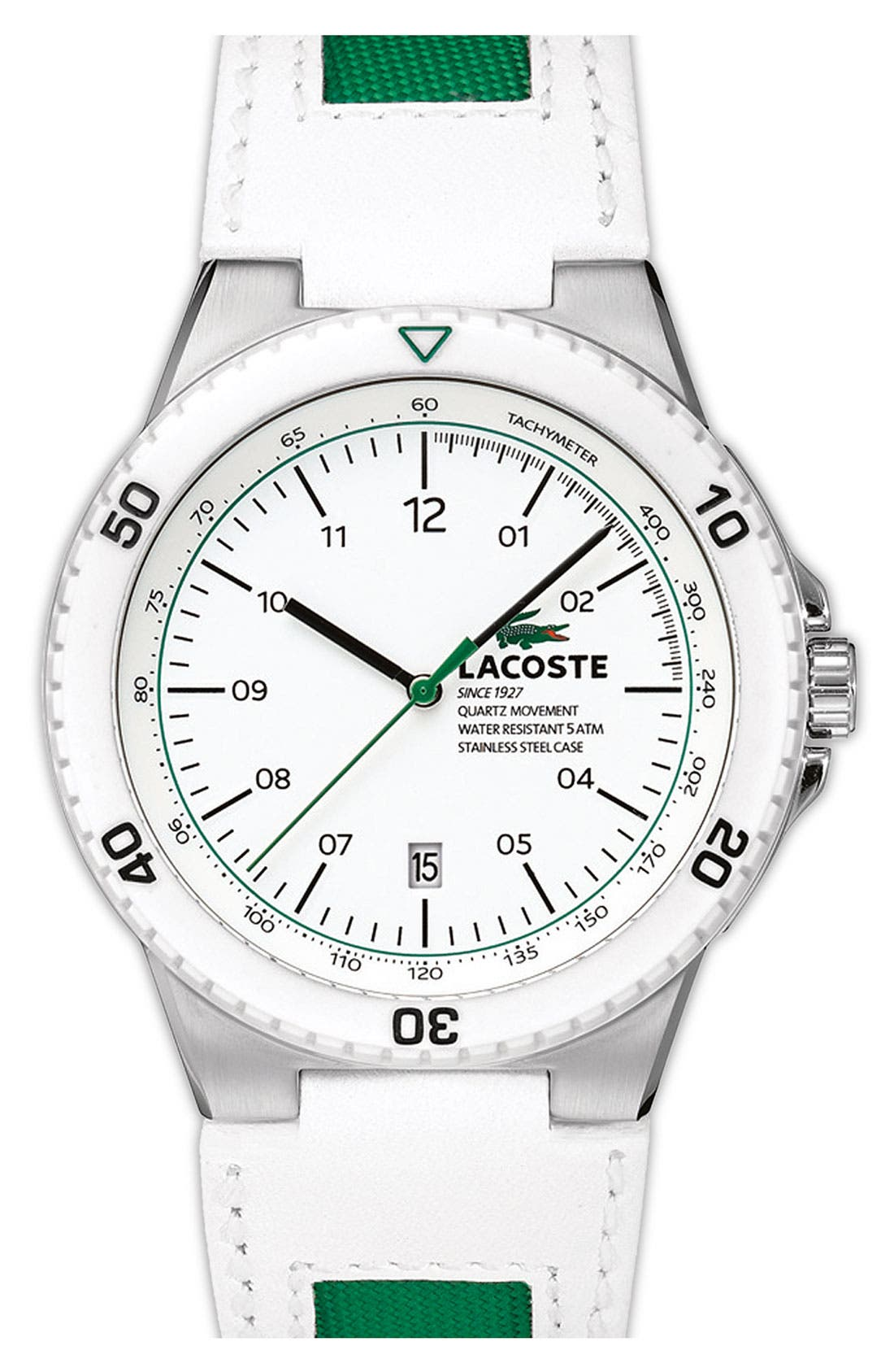 Alternate Image 1 Selected - Lacoste 'Toronto' Round Chronograph Watch, 44mm